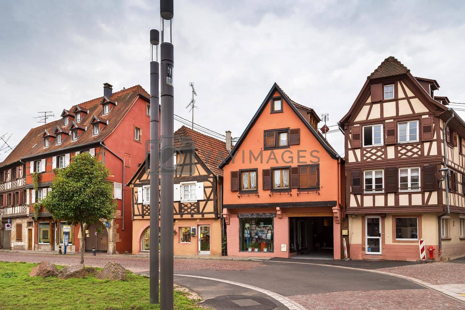 Royalty free image of Street in Obernai, Alsace, France by borisb17