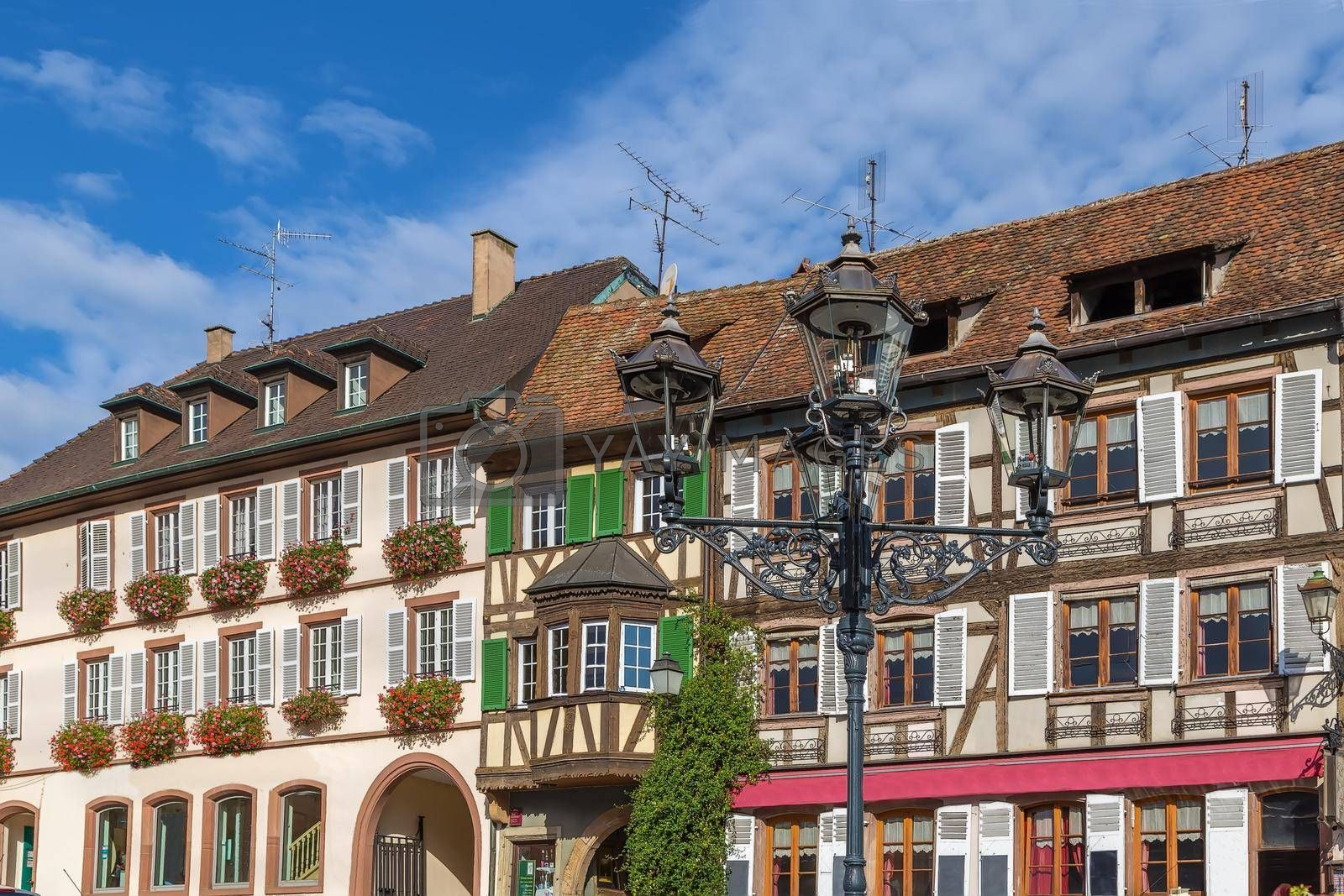 Royalty free image of Square in  Barr, Alsace, France by borisb17