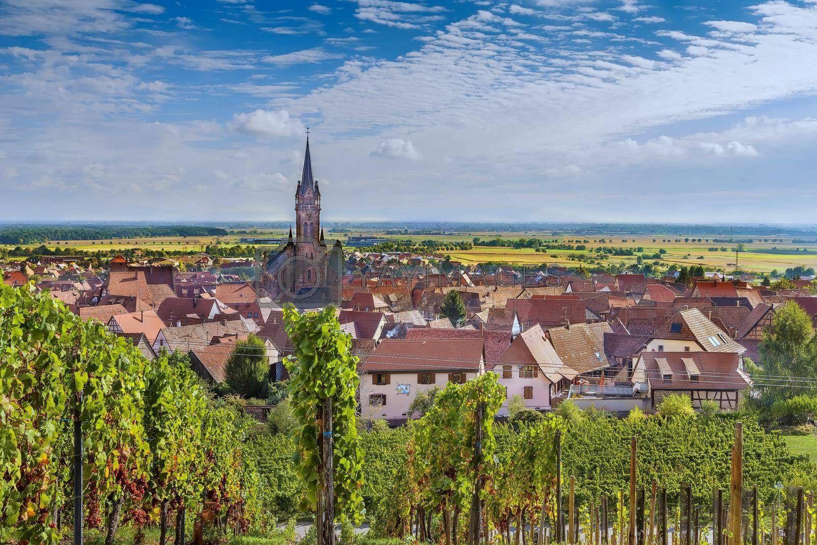 Royalty free image of View of  Dambach la Ville, Alsace, France by borisb17
