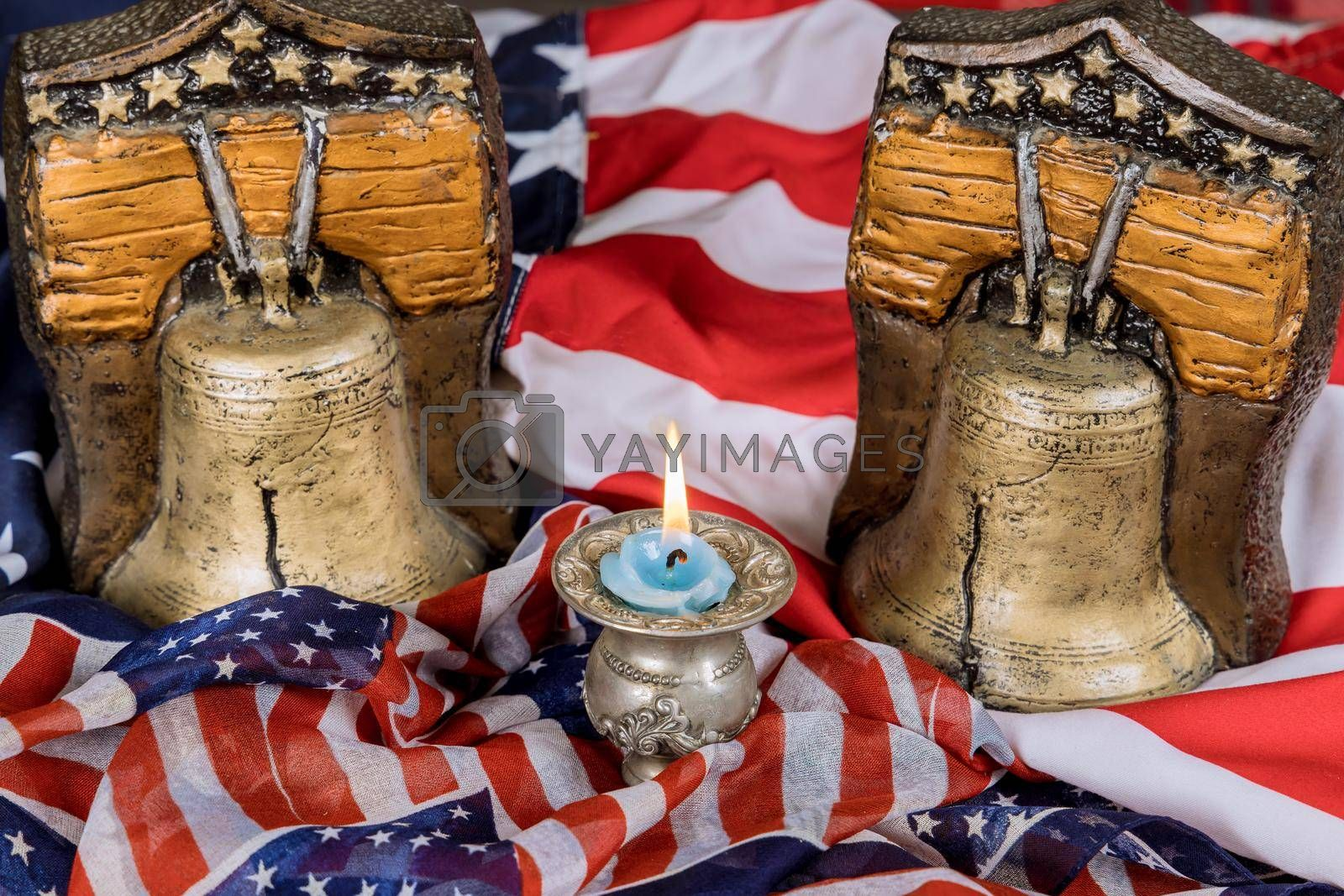 Memorial day remember those who served with Candle memory and Remember bell