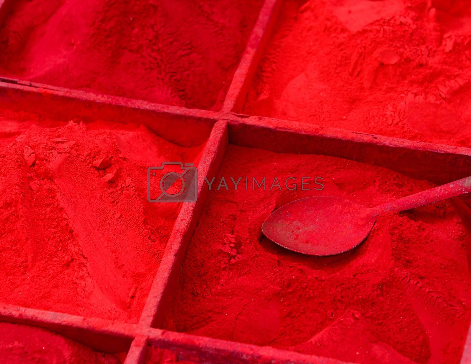 Red powder for sale in Kathmandu, Nepal