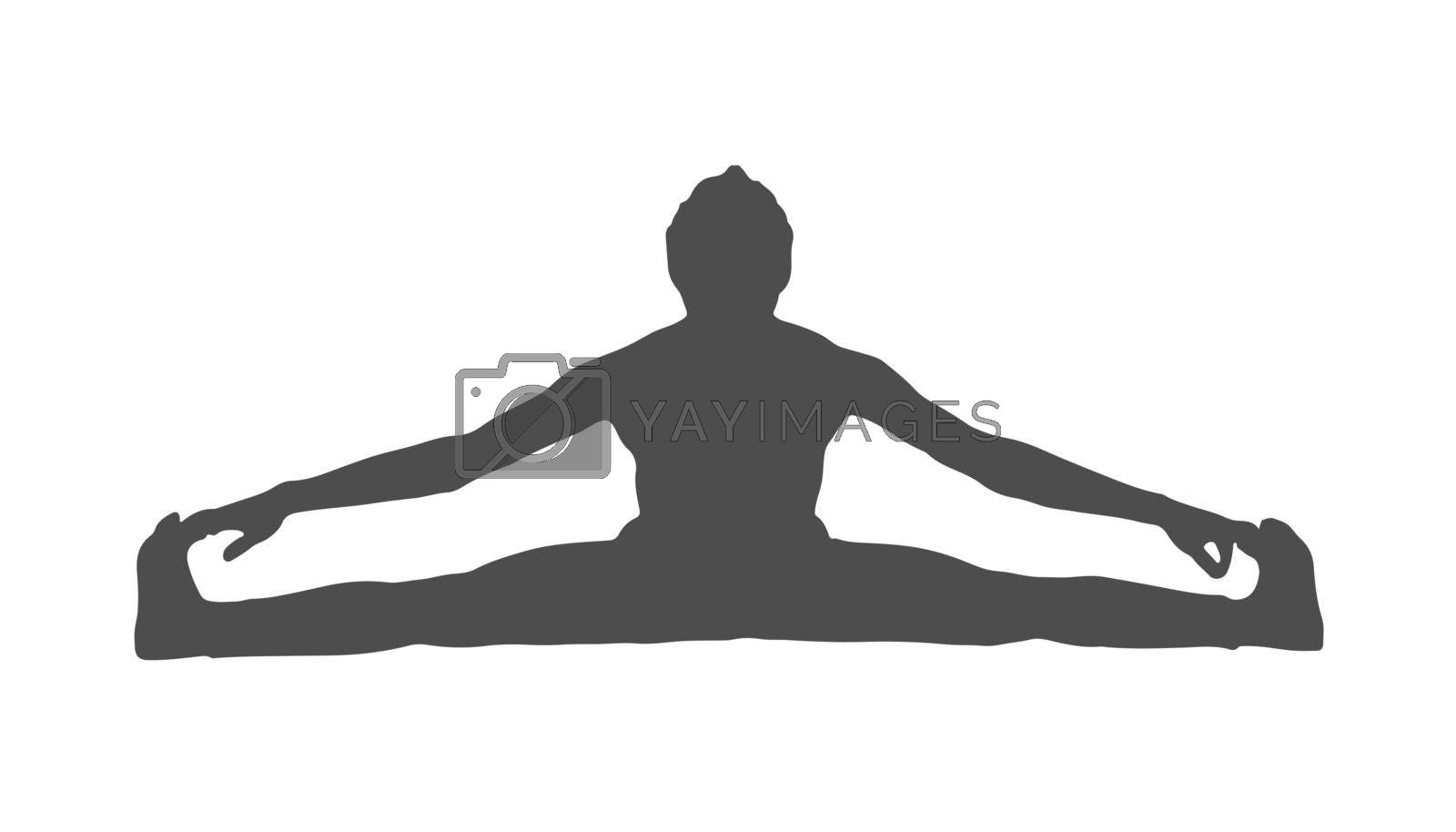 Royalty free image of Silhouette of an athlete. Sports training. Vector illustration by Grommik