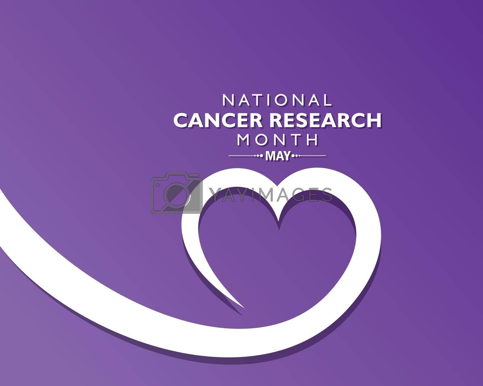 Royalty free image of Vector Illustration of National Cancer Research Month observed in May. by graphicsdunia4you
