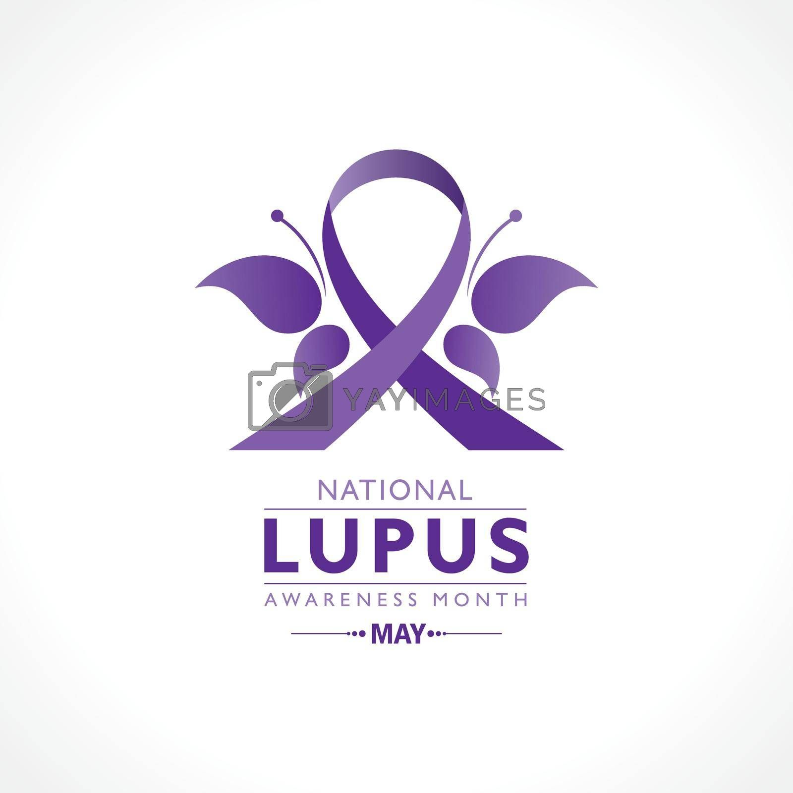 Royalty free image of Lupus Awareness Month observed in May. by graphicsdunia4you