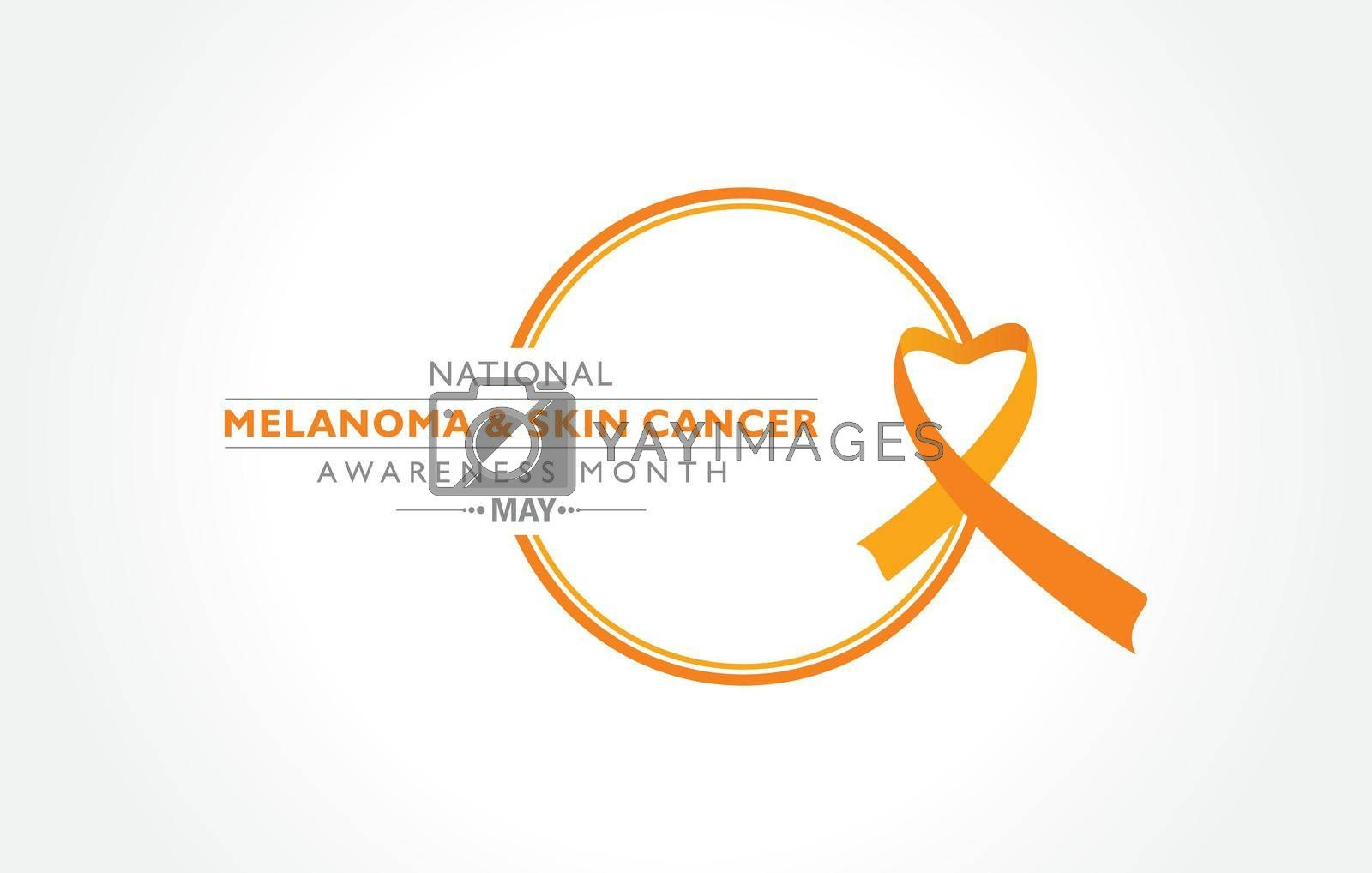 Royalty free image of Melanoma and Skin Cancer Awareness Month observed in May. by graphicsdunia4you