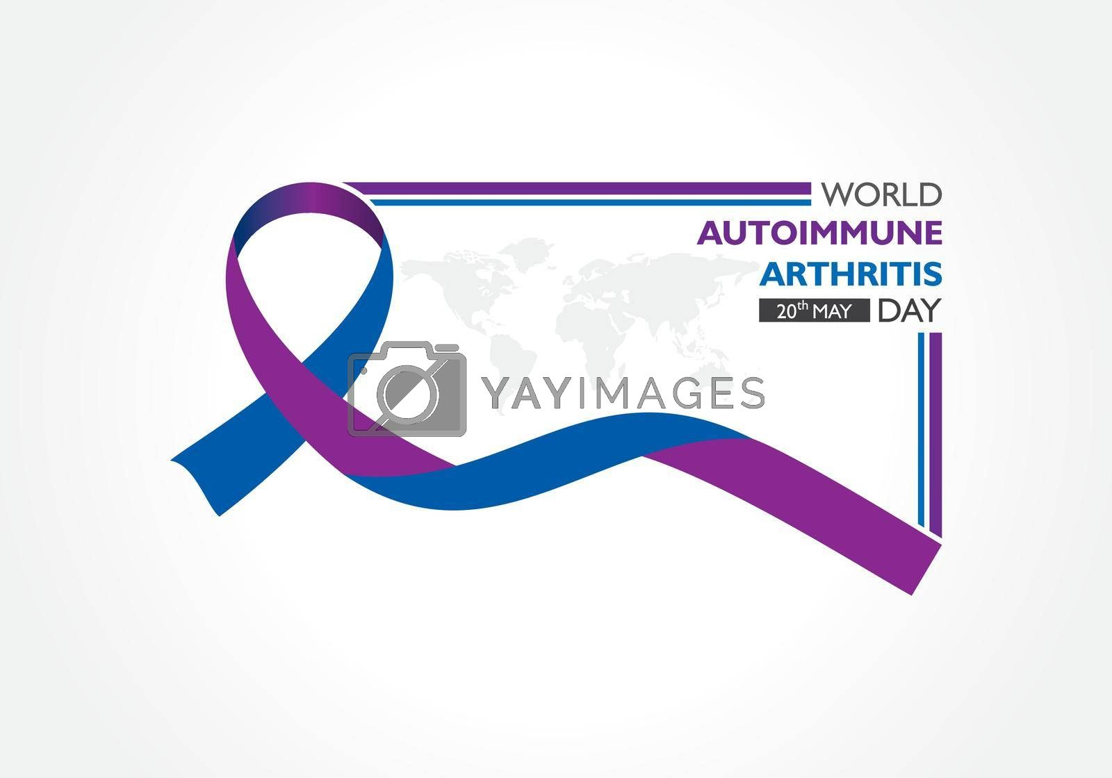 Royalty free image of World Autoimmune Arthritis Day observed on 20th May by graphicsdunia4you