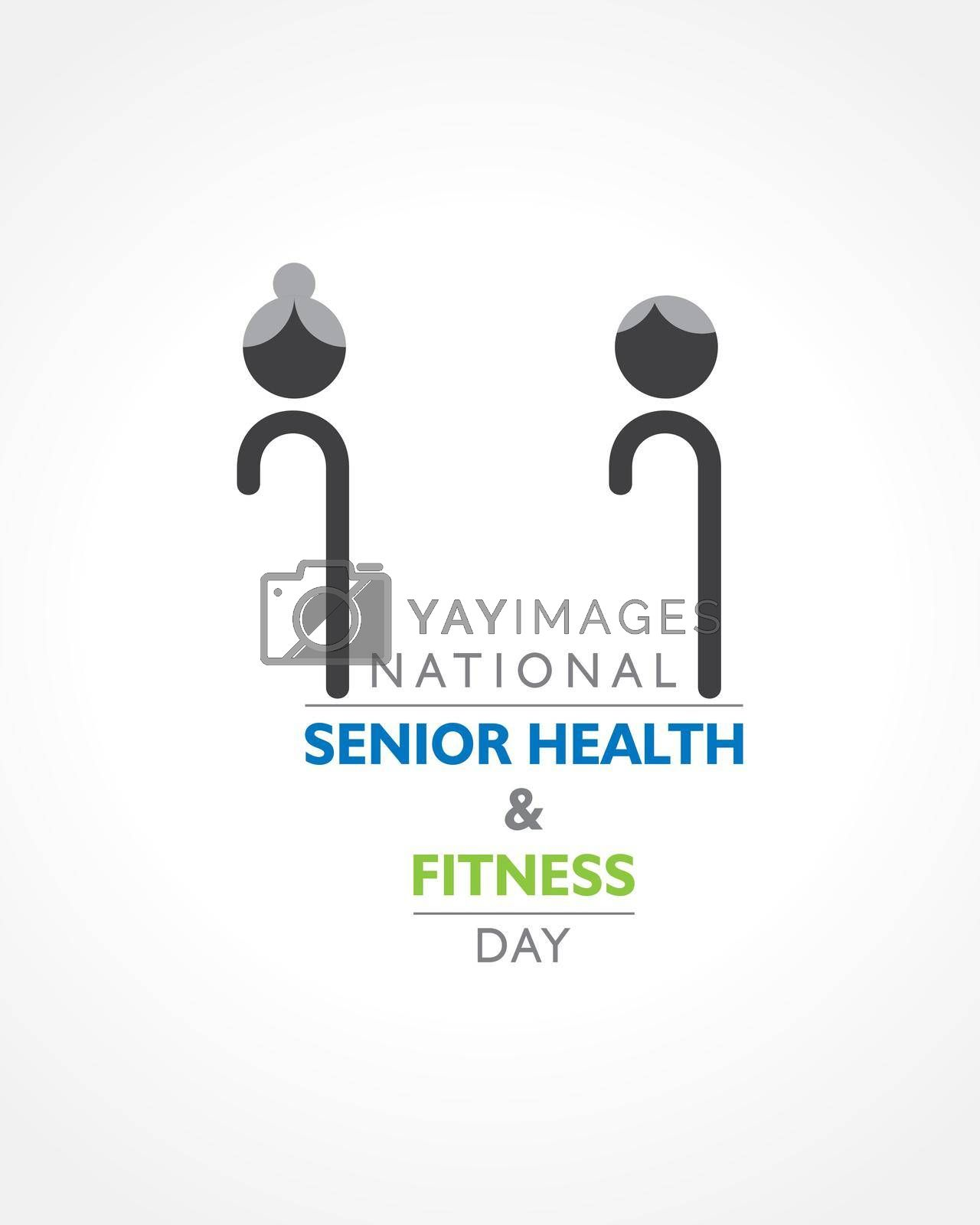 Royalty free image of National Senior Health and Fitness day observed on last Wednesday in May. by graphicsdunia4you