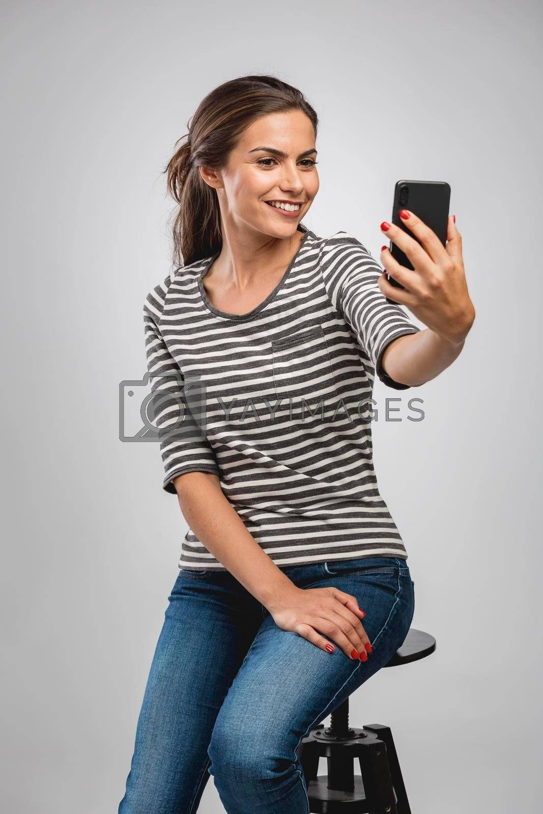 Royalty free image of A selfie for my social networks by Iko