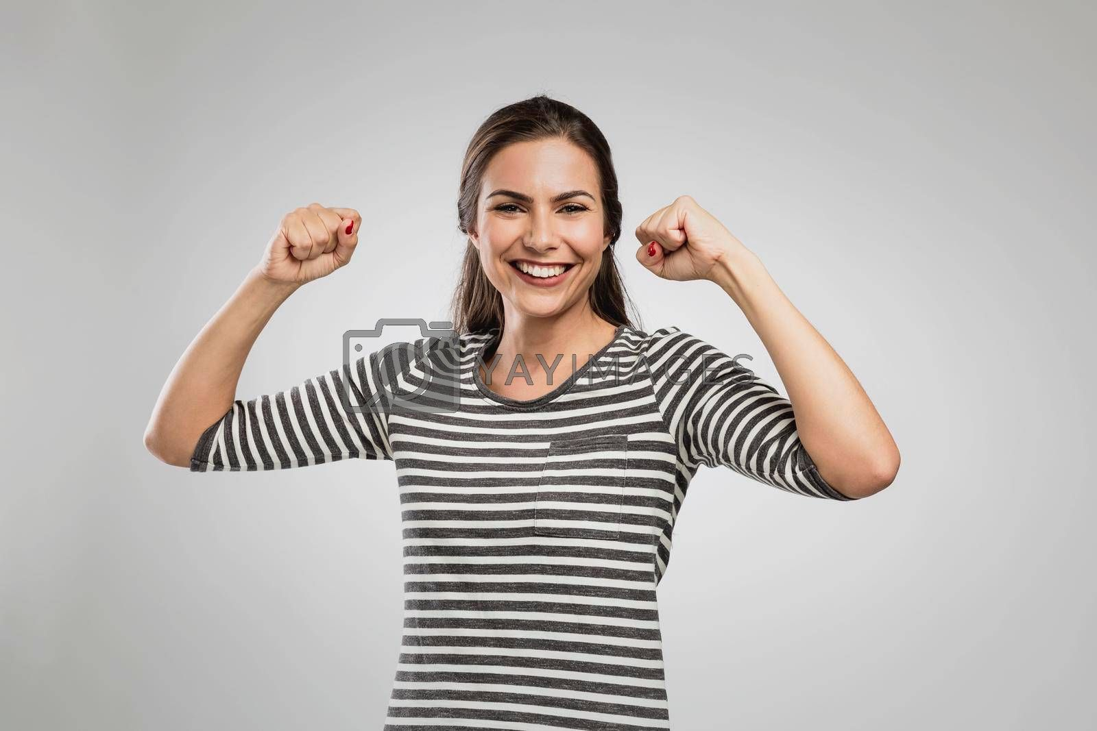 Royalty free image of Happy woman laughing by Iko