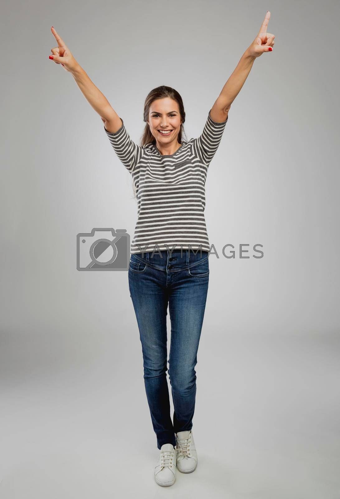 Royalty free image of Happy woman by Iko