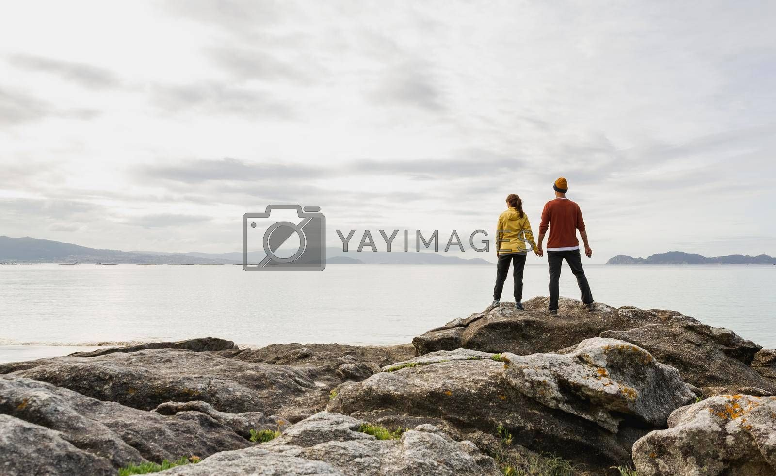 Royalty free image of Couple enjoying the view by Iko