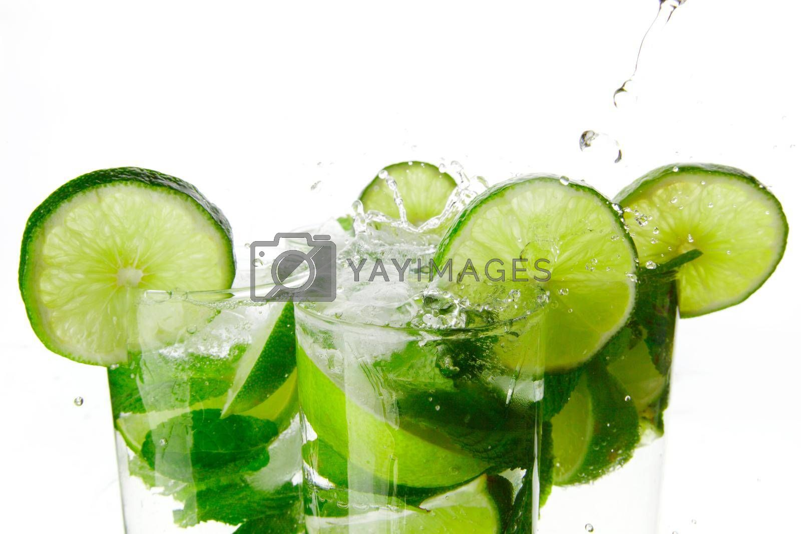 Royalty free image of Making mojito cocktails by Yellowj