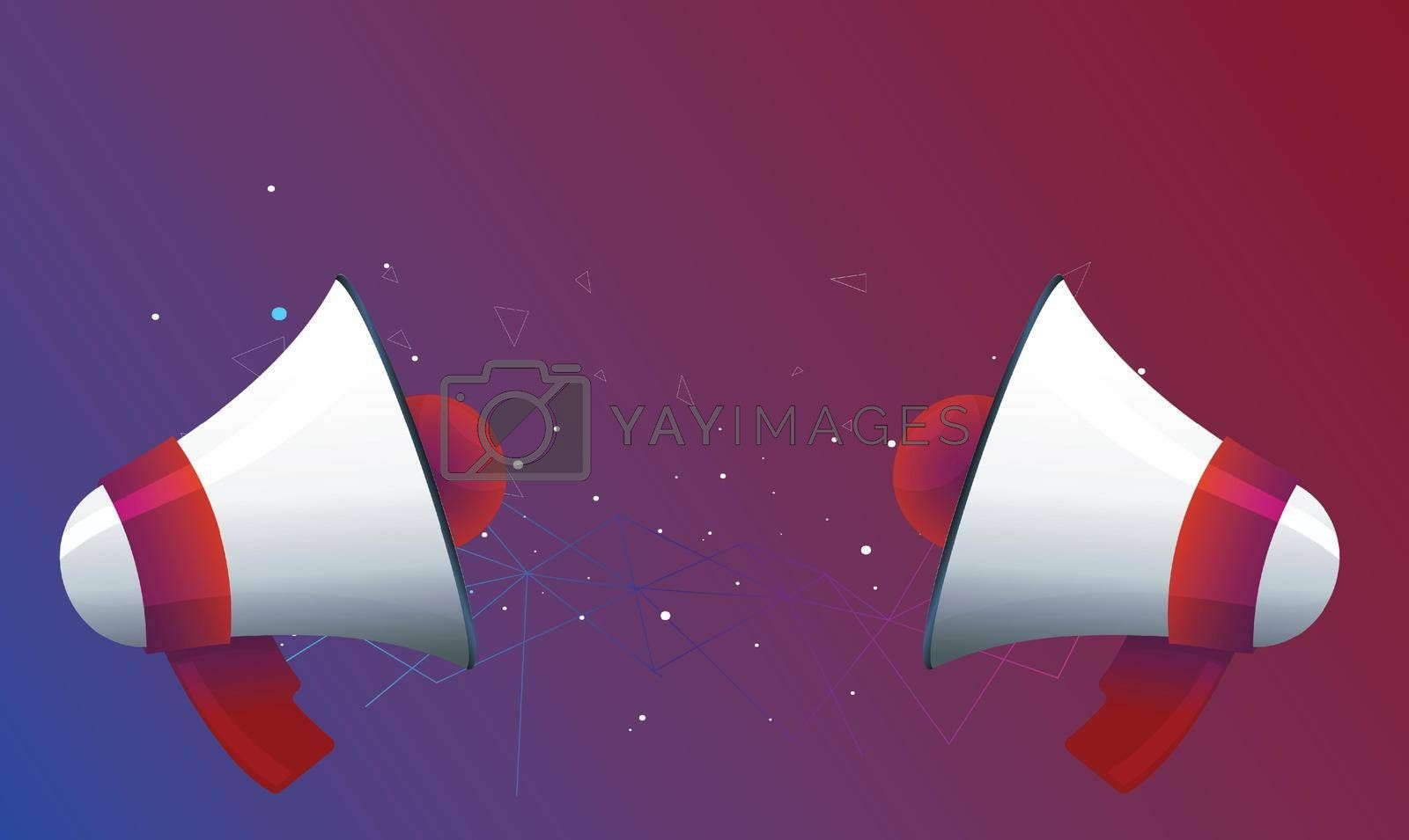 Royalty free image of two sign of horn on abstract stars background by aanavcreationsplus