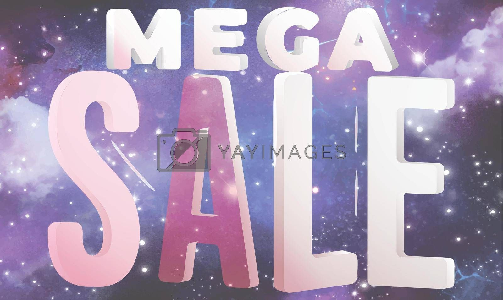 Royalty free image of mega sale art on abstract background by aanavcreationsplus