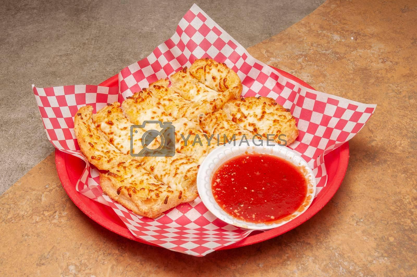 Authentic Italian cuisine known as garlic bread
