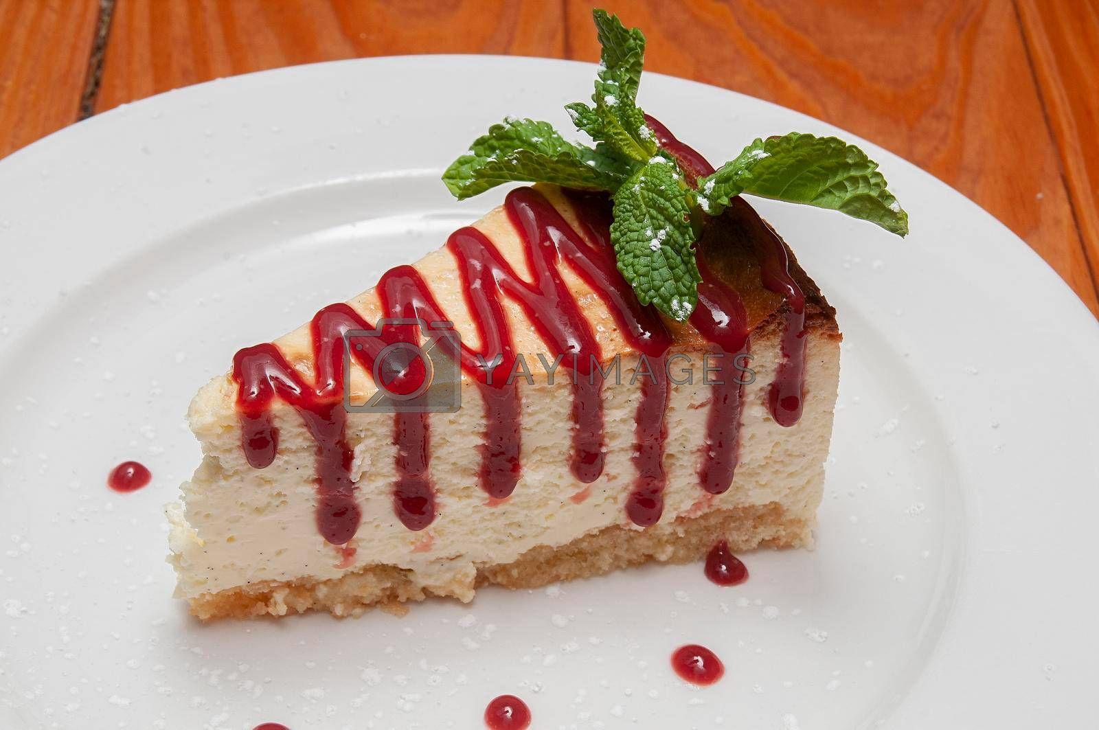 Delicious dessert food known as the cheesecake