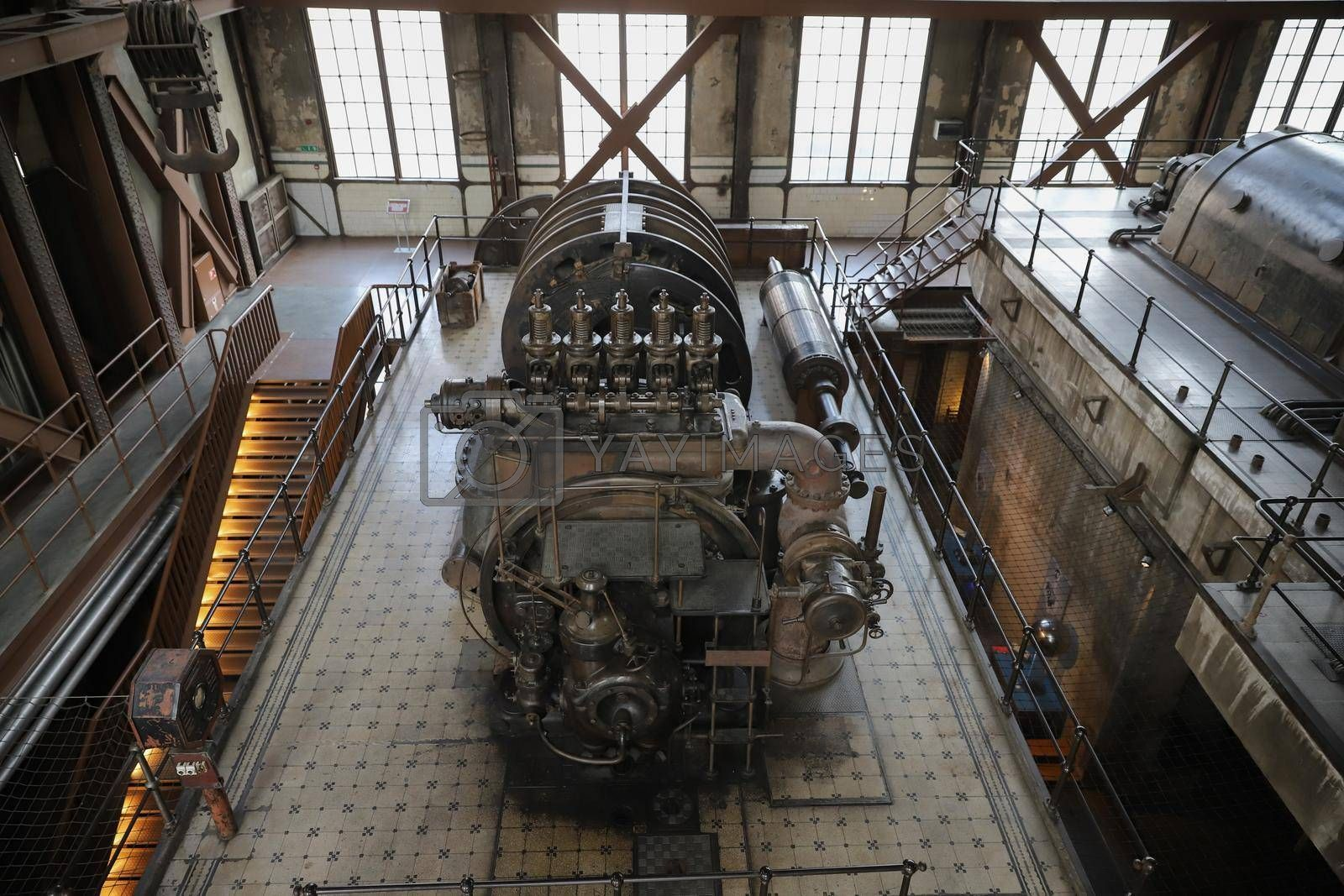 Old Engine of an old Power Plant