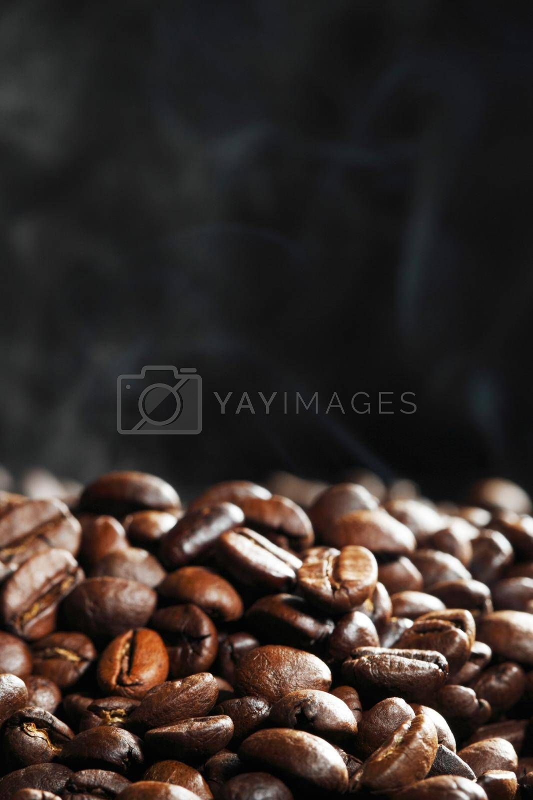 Royalty free image of Hot roasted coffee beans by Yellowj