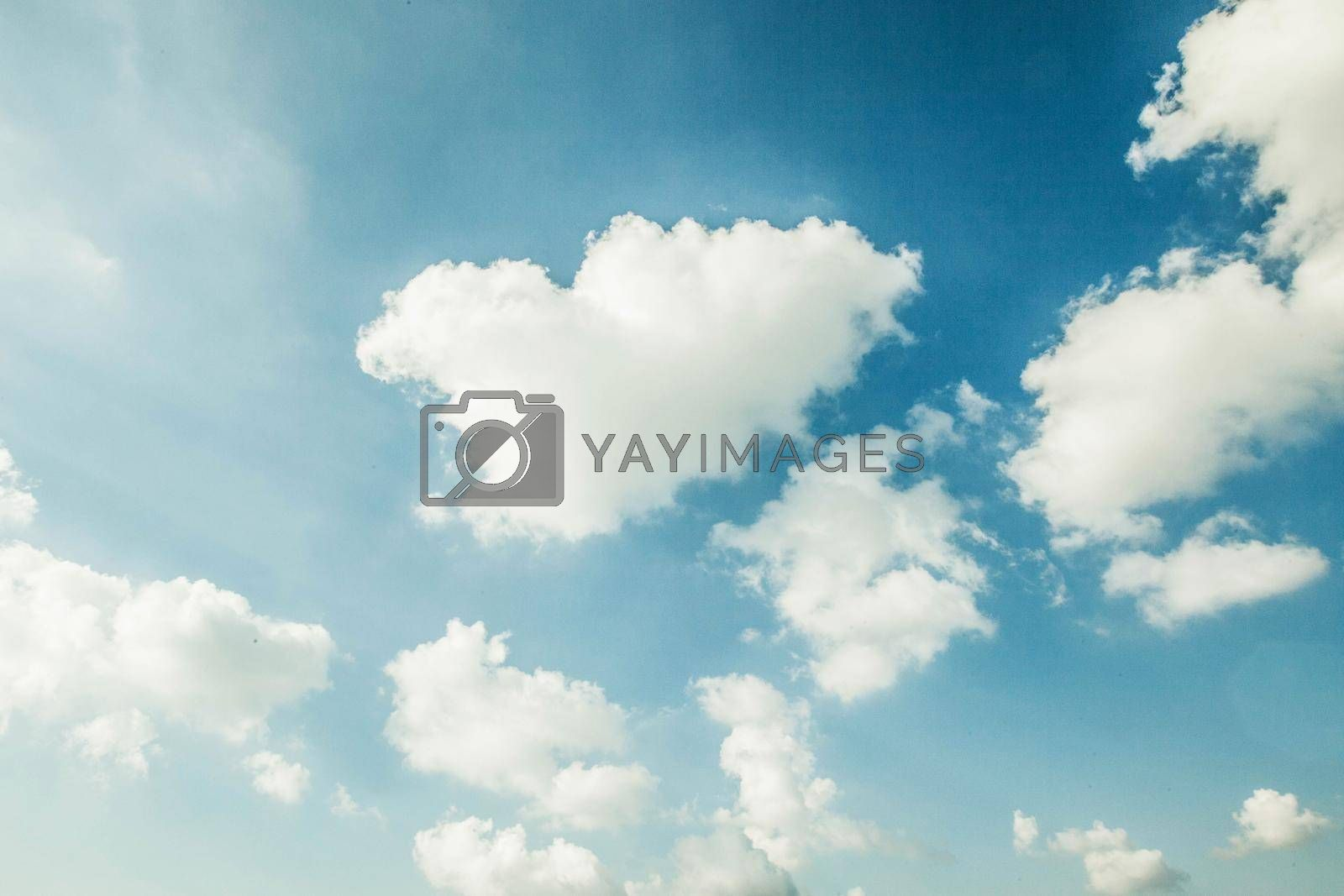 Royalty free image of Blue sky with clouds by Yellowj