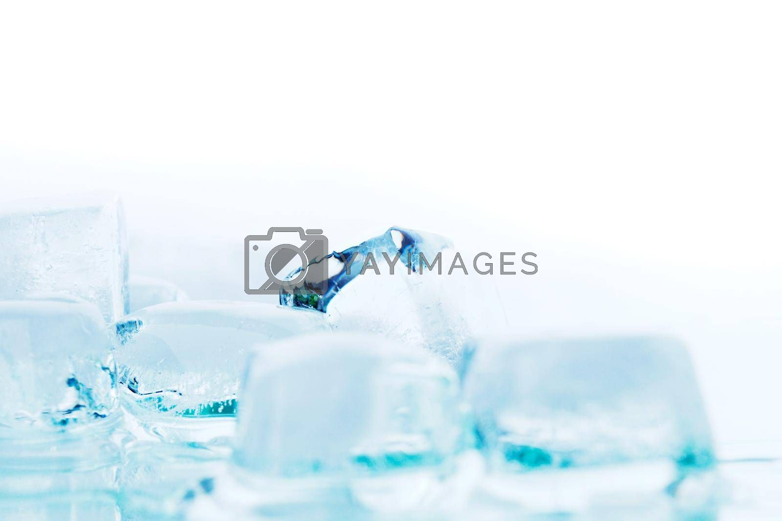 Royalty free image of Ice cubes on white by Yellowj