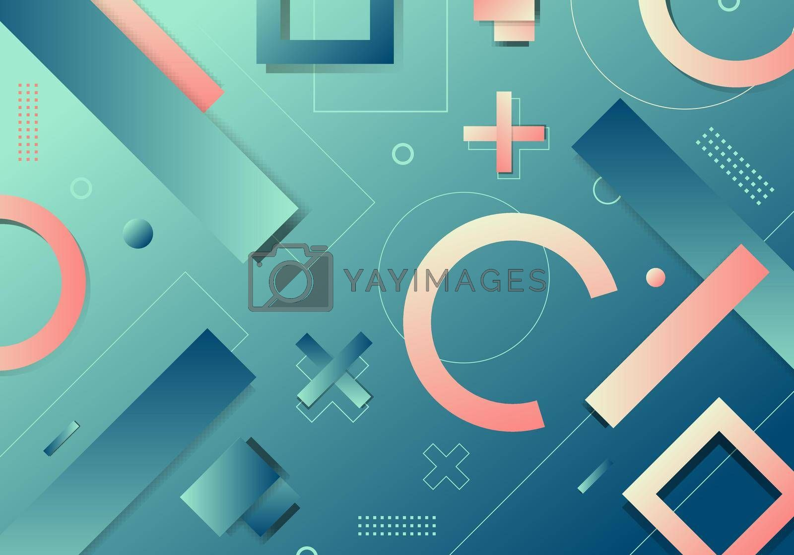 Royalty free image of Abstract background geometric gradient shape elements pattern dynamic shape compositions by phochi