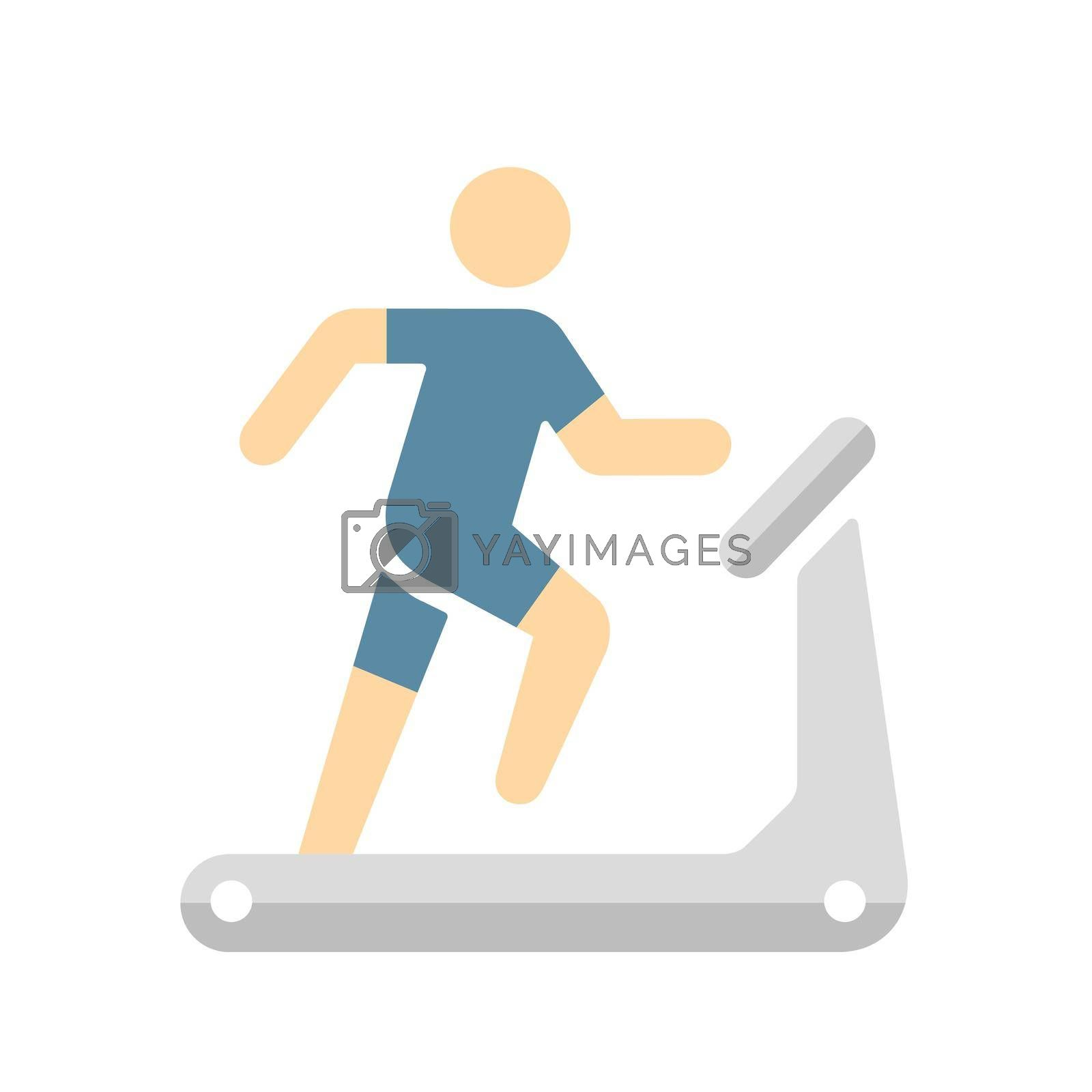 Treadmill, training, sports gym, exercise vector icon illustration