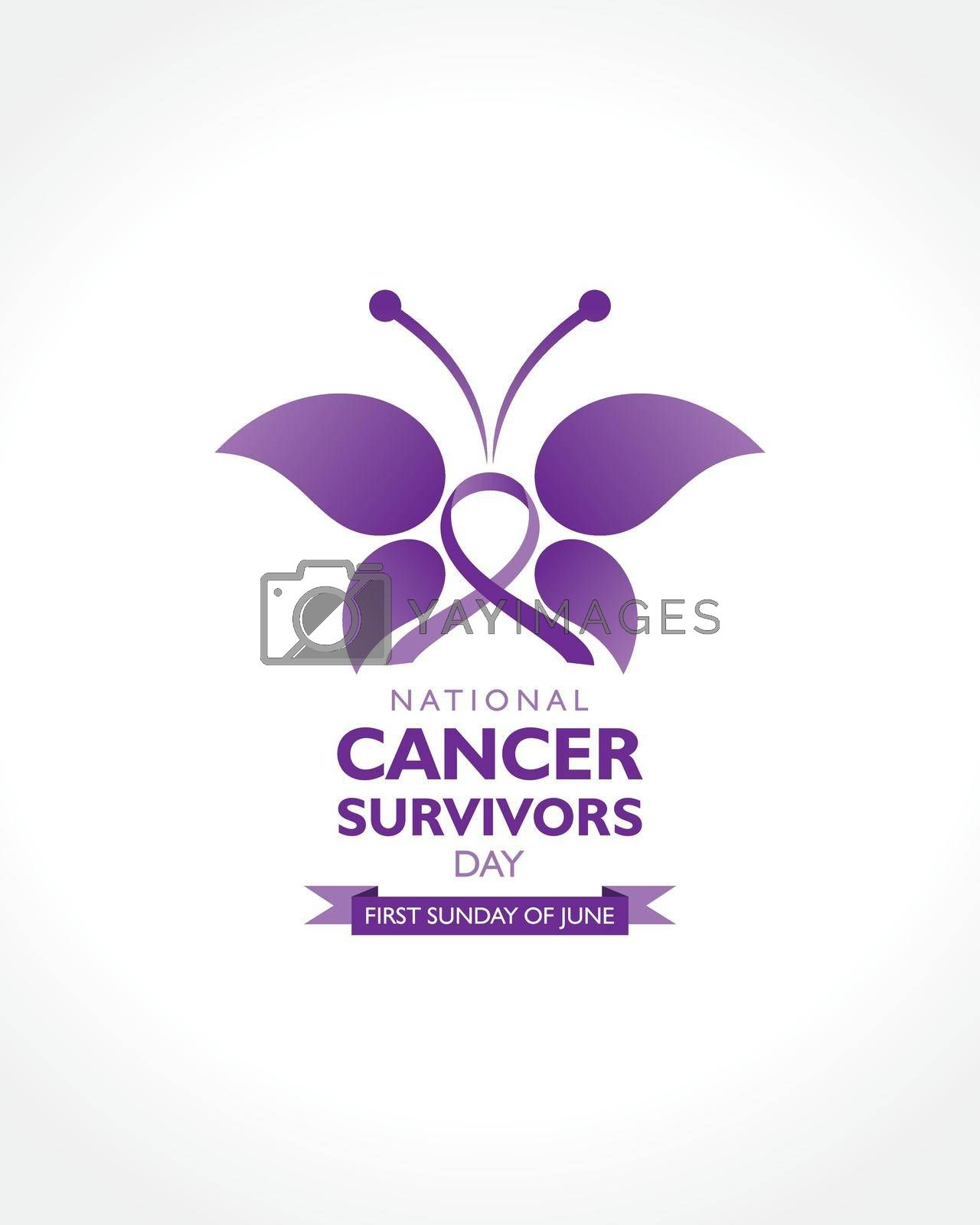 Royalty free image of Cancer Survivors Day observed on first Sunday of June. by graphicsdunia4you