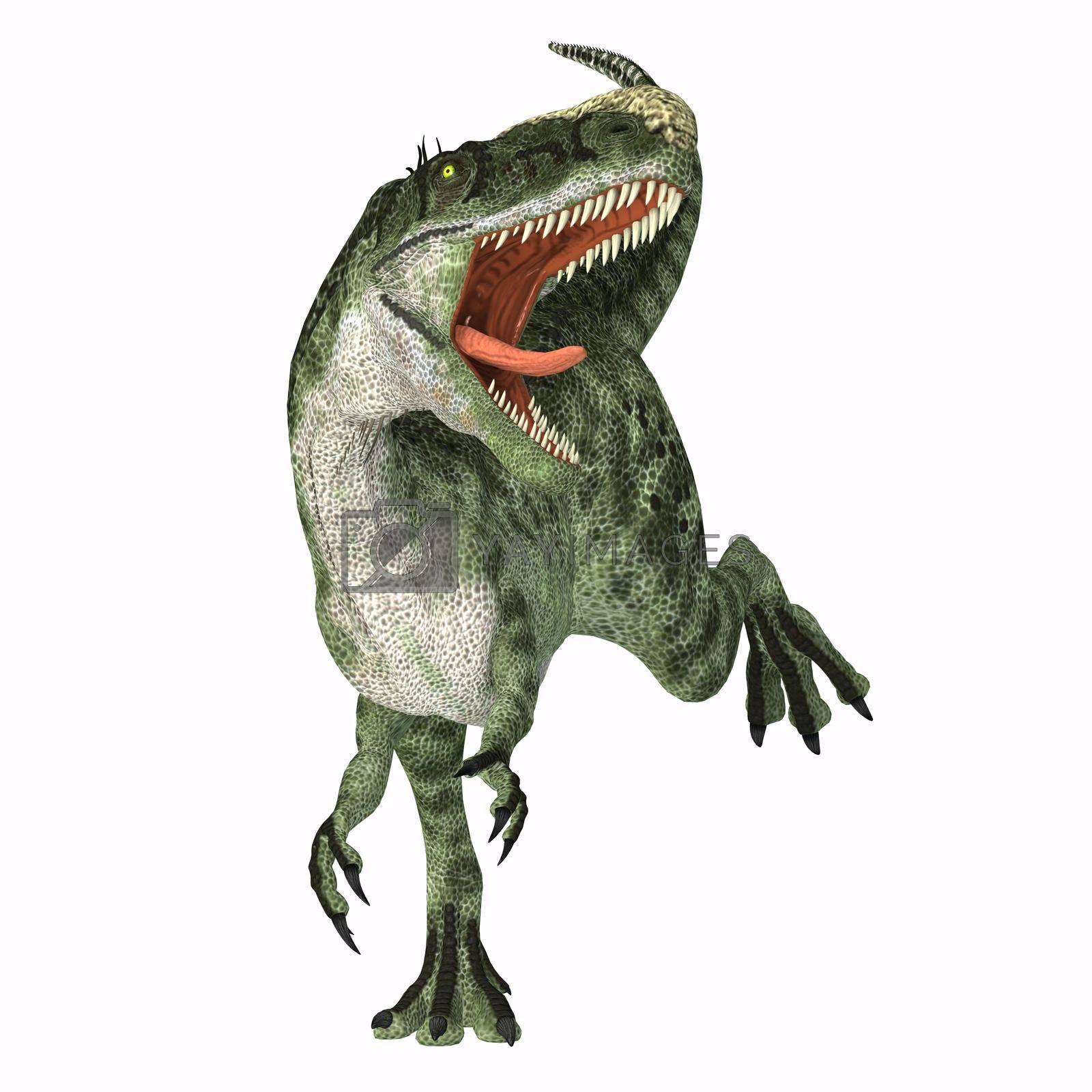 Royalty free image of Monolophosaurus Dinosaur Roaring by Catmando