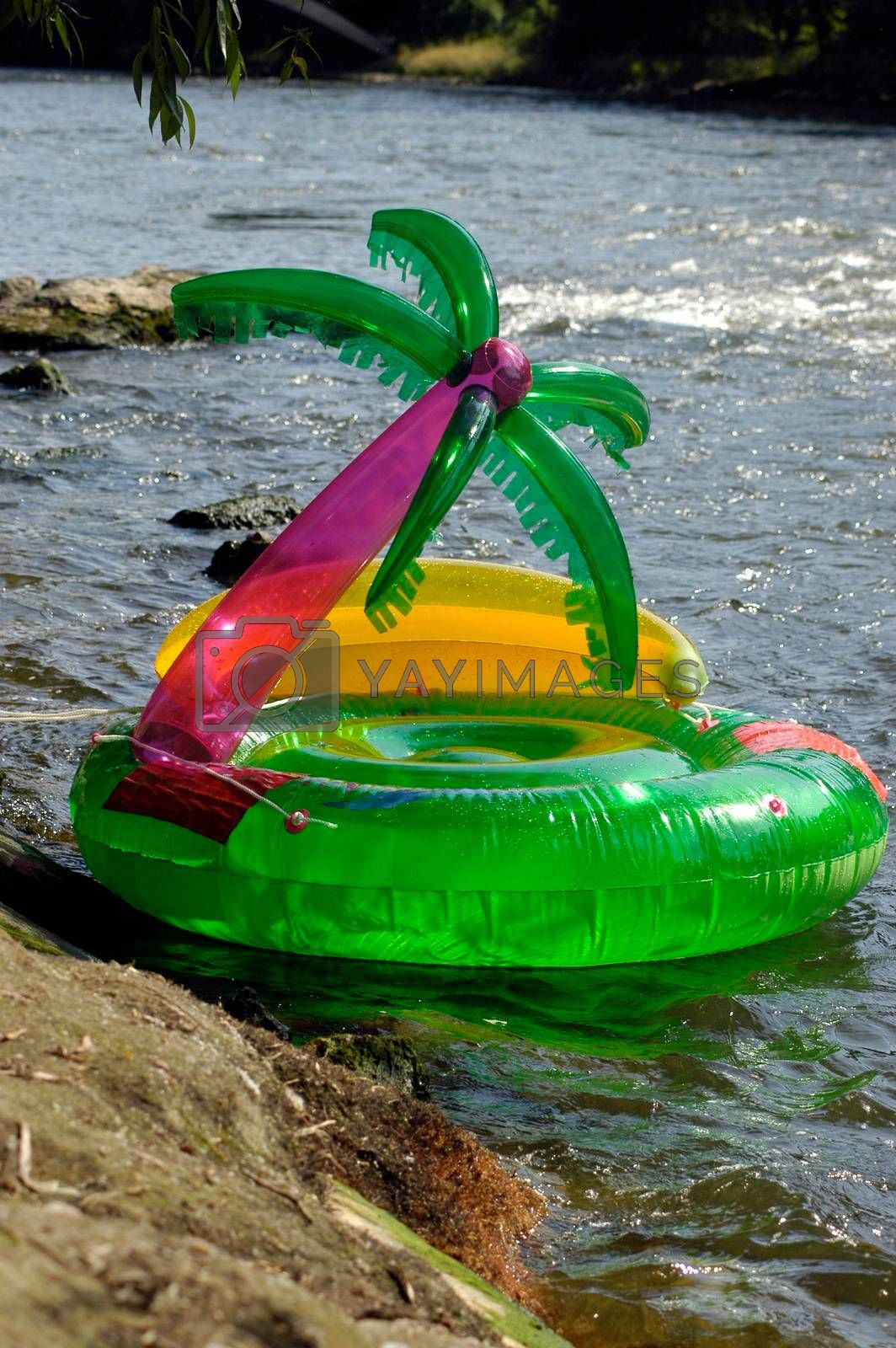 inflatable boat for water sports and water activities in summer