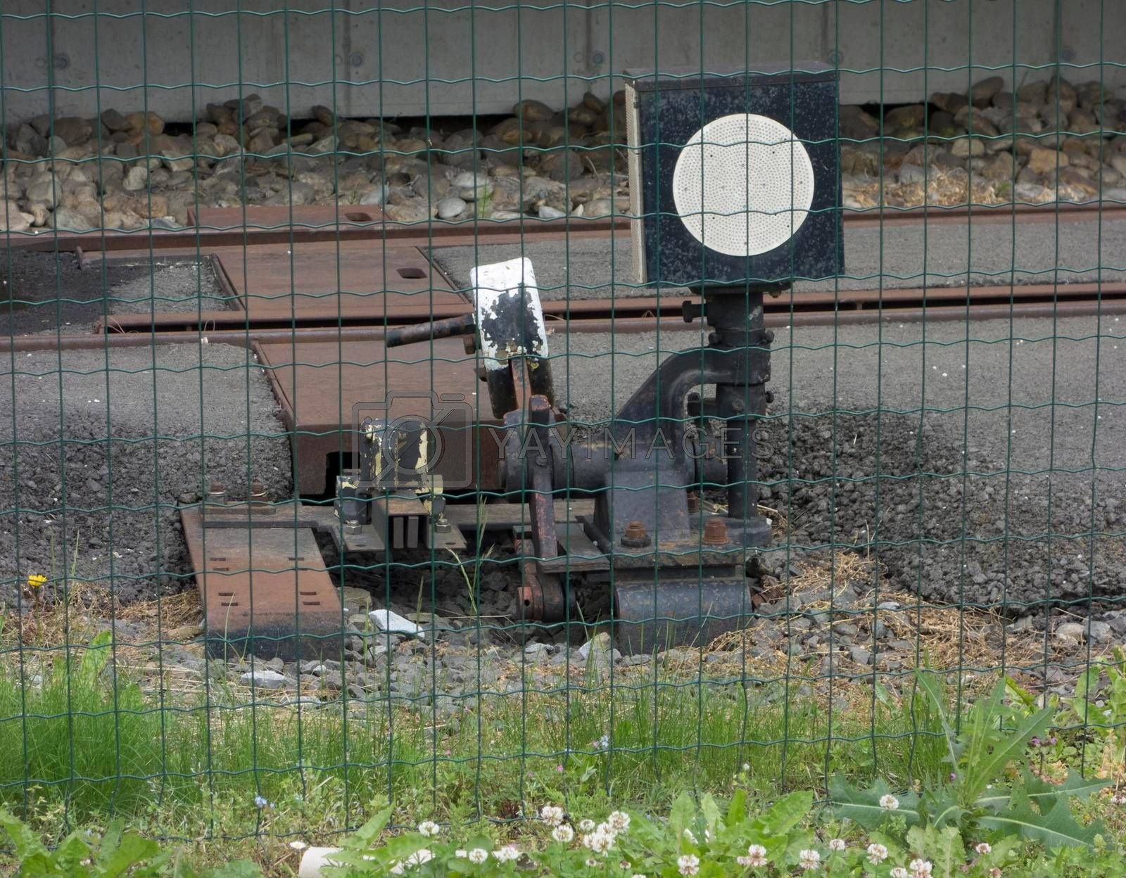 switch or track switch for rail in railroad and train traffic