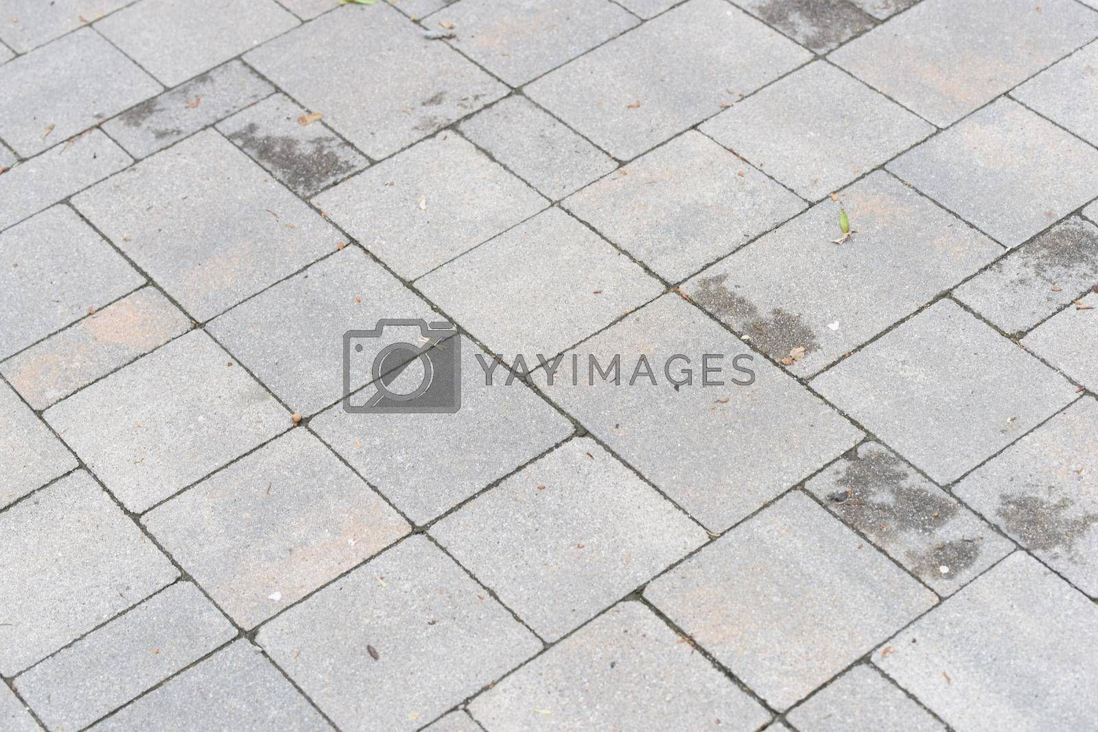cobblestones as pavement for the street, natural building material for roads