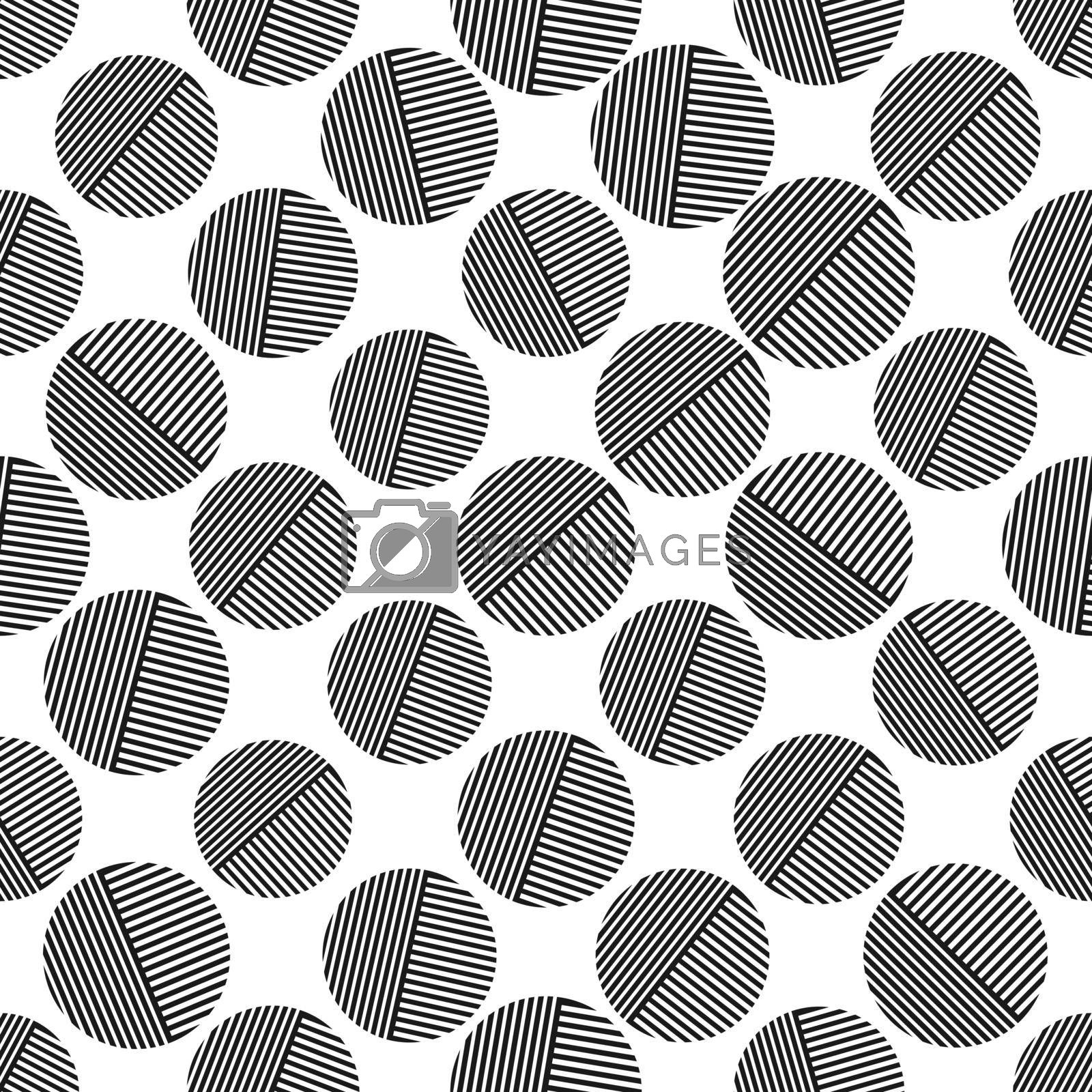 Royalty free image of Seamless geometric pattern with circles for texture, textiles, and simple backgrounds by Grommik