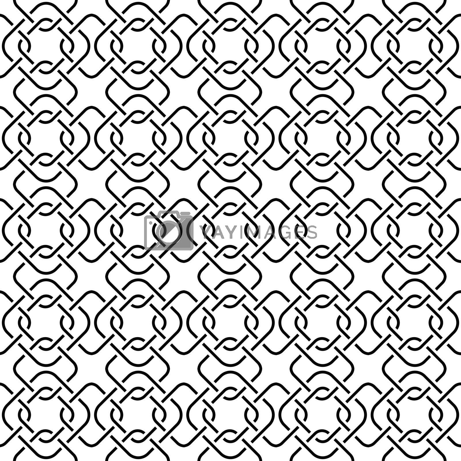 Seamless geometric pattern of intersecting squares for textures, textiles, and simple backgrounds. Flat design.