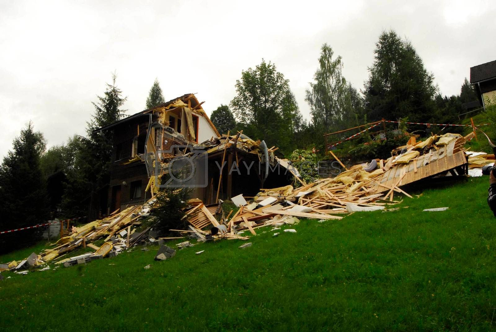 the storm damage after a severe storm, a natural disaster