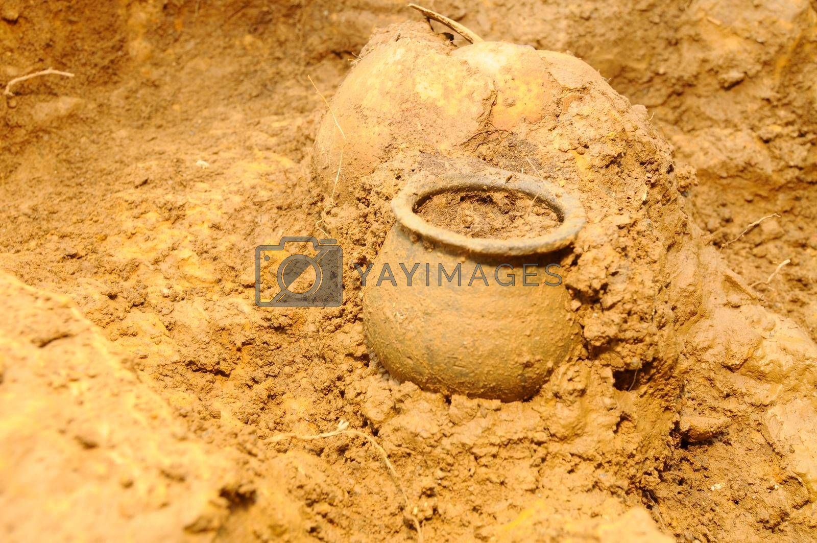 archeological excavation and digging in the field, research and history