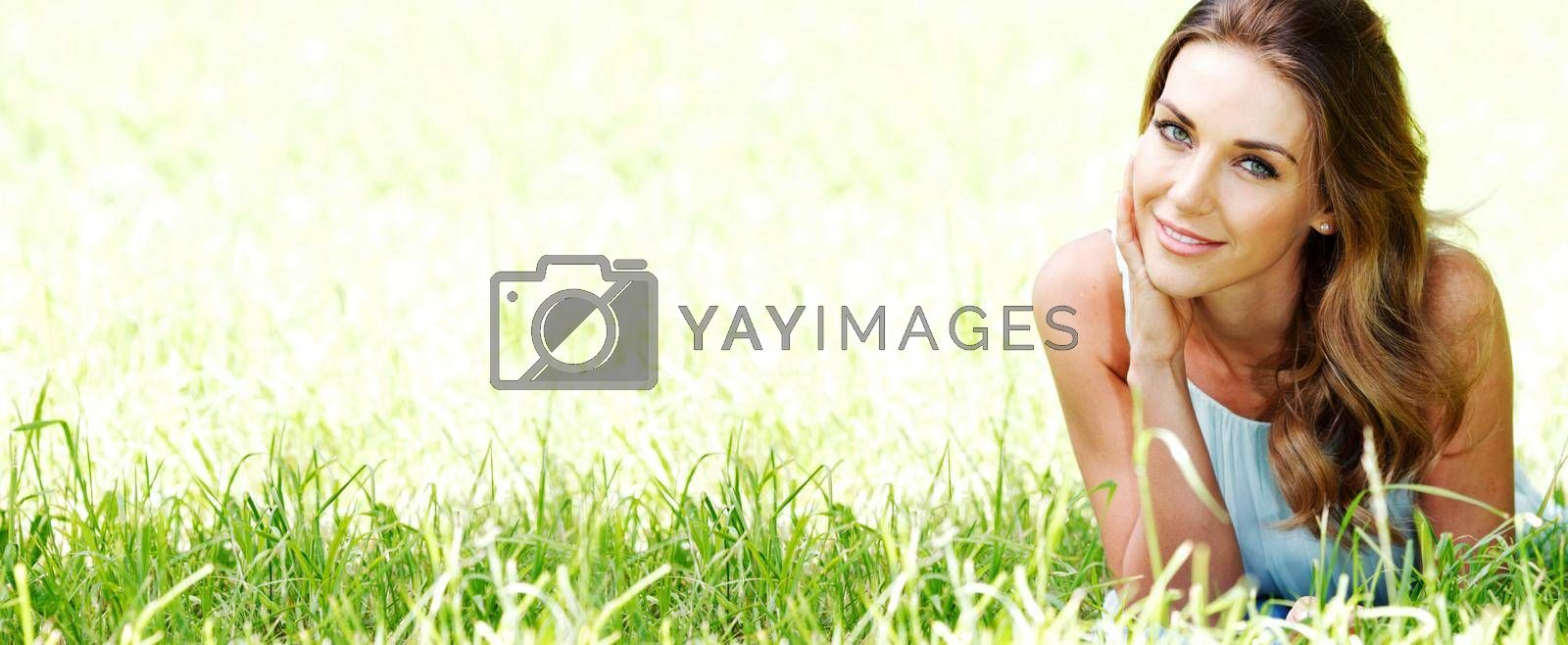 Royalty free image of Smiling girl portrait by Yellowj