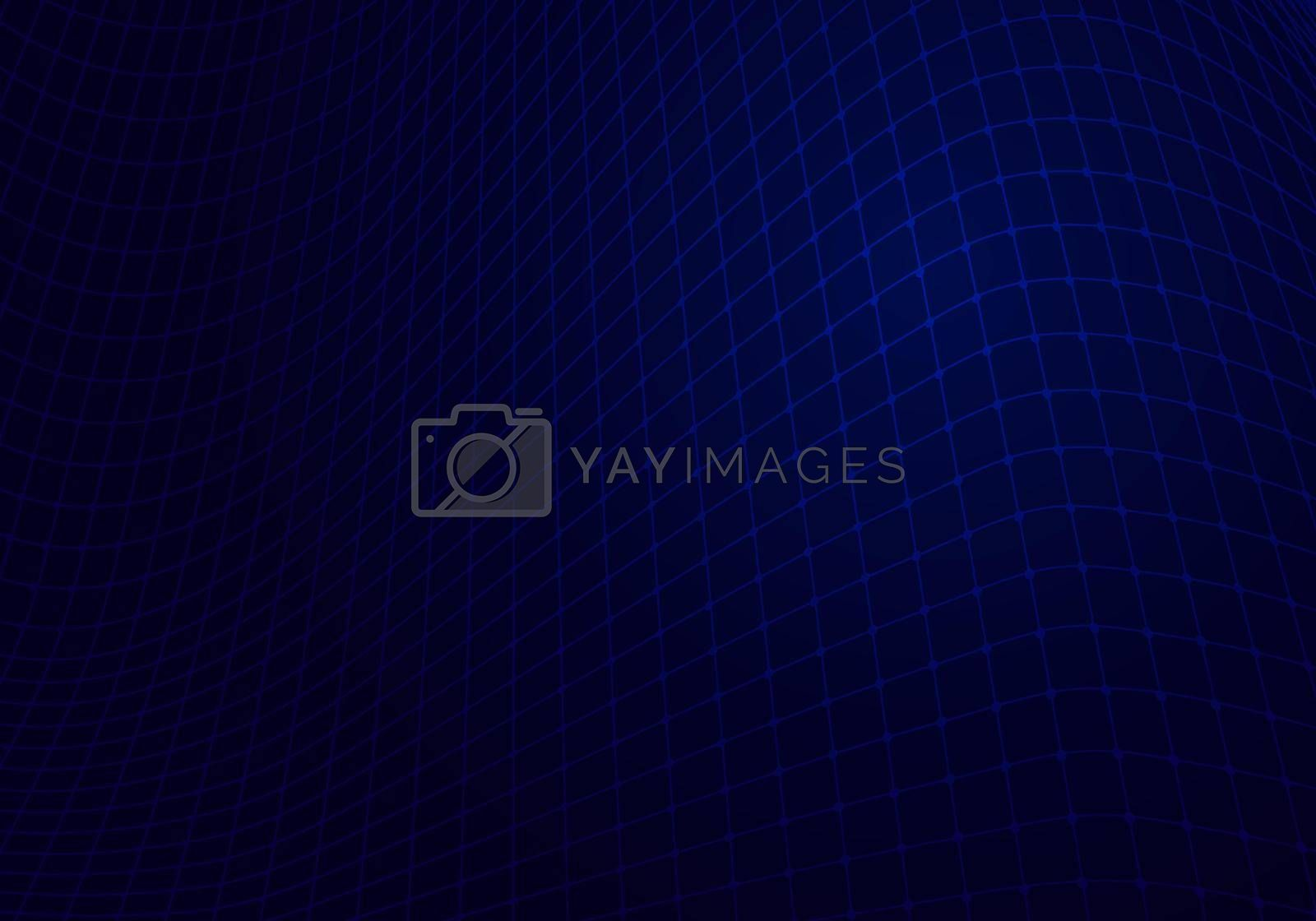 Royalty free image of Abstract blue mesh grid network on dark background technology digital concept by phochi