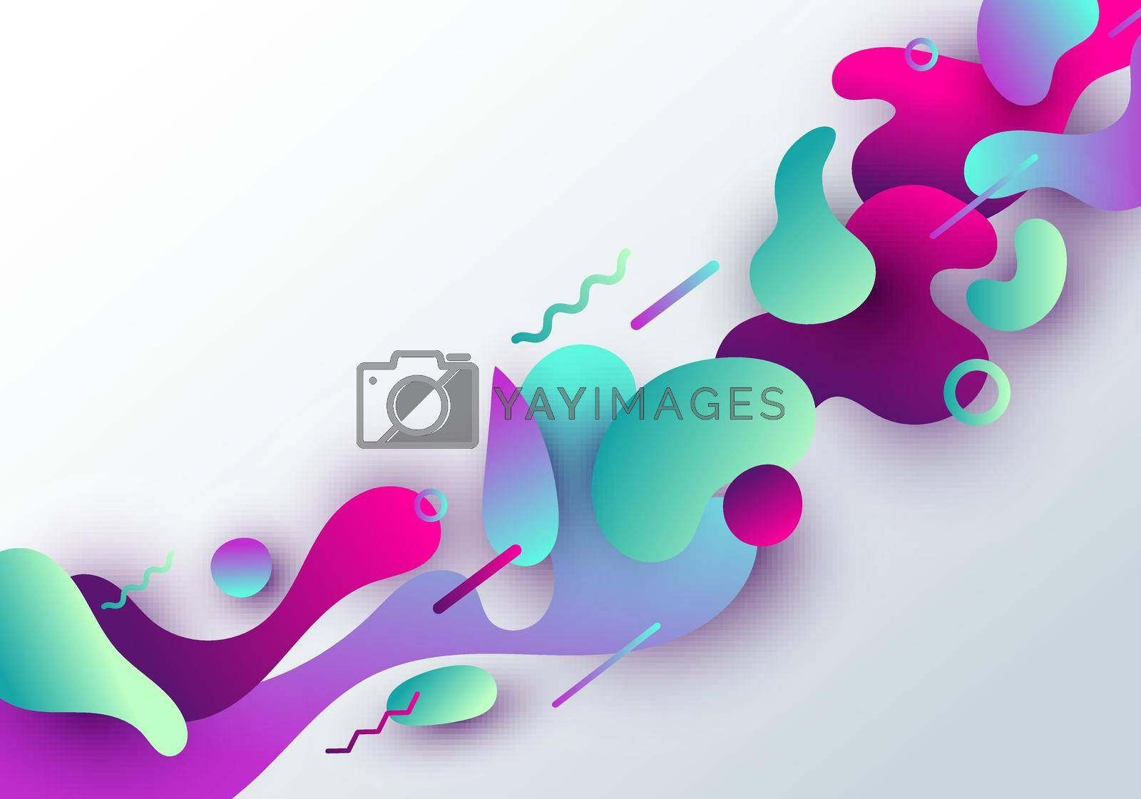 Royalty free image of Abstract fluid vibrant gradient shape with geometric design isolated on white background by phochi
