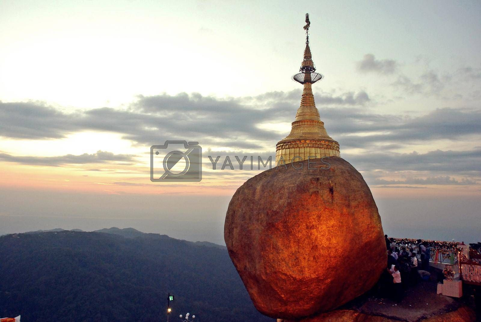 Kyaiktiyo Pagoda, Golden Rock is one of the top destinations and a spectacular sight of Myanmar.