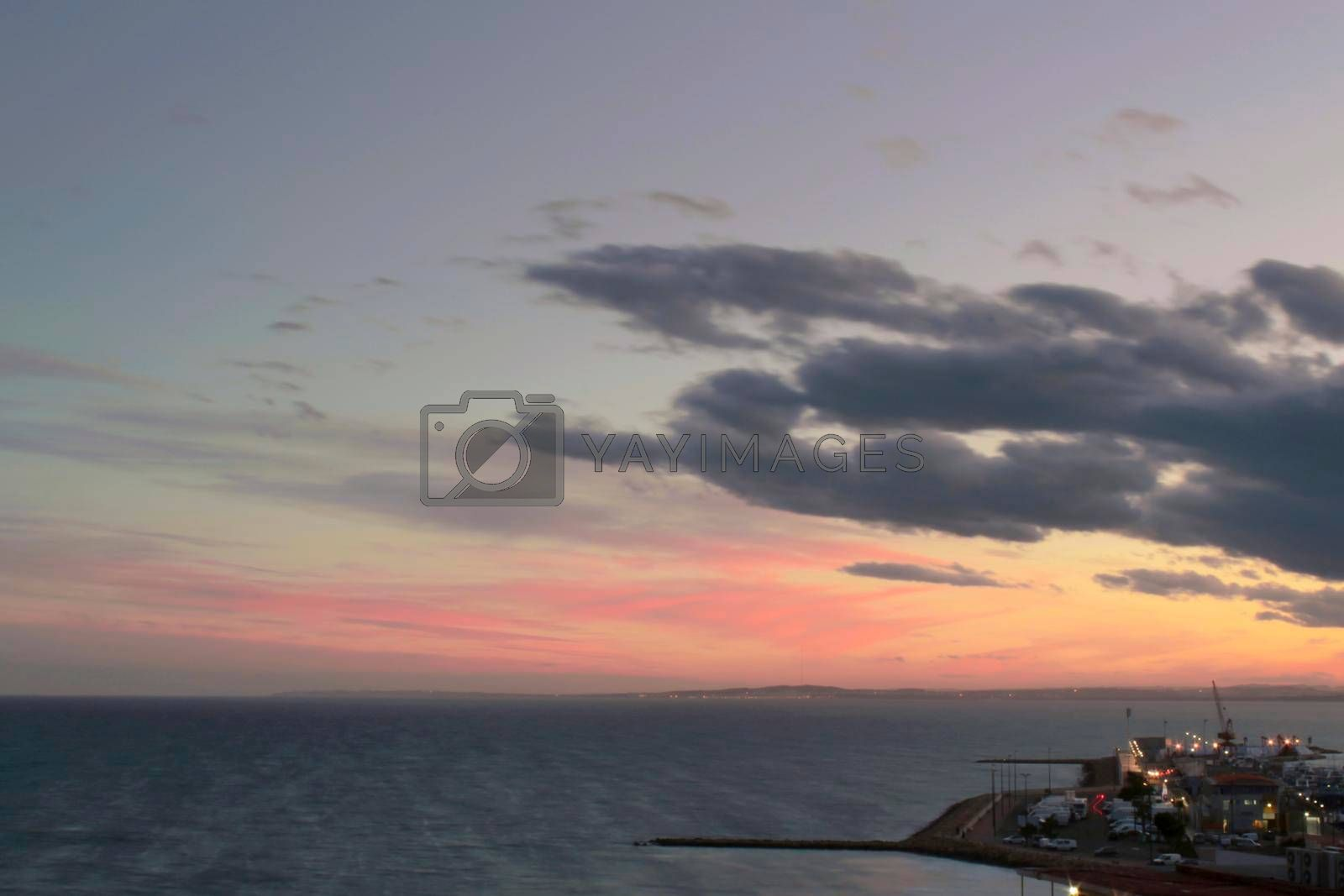 Sunset in Santa Pola, a small fishing village in southern Spain