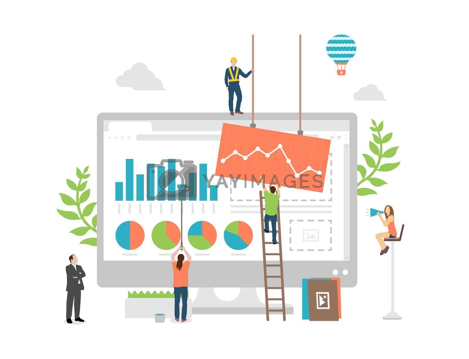 Data analysis concept vector illustration
