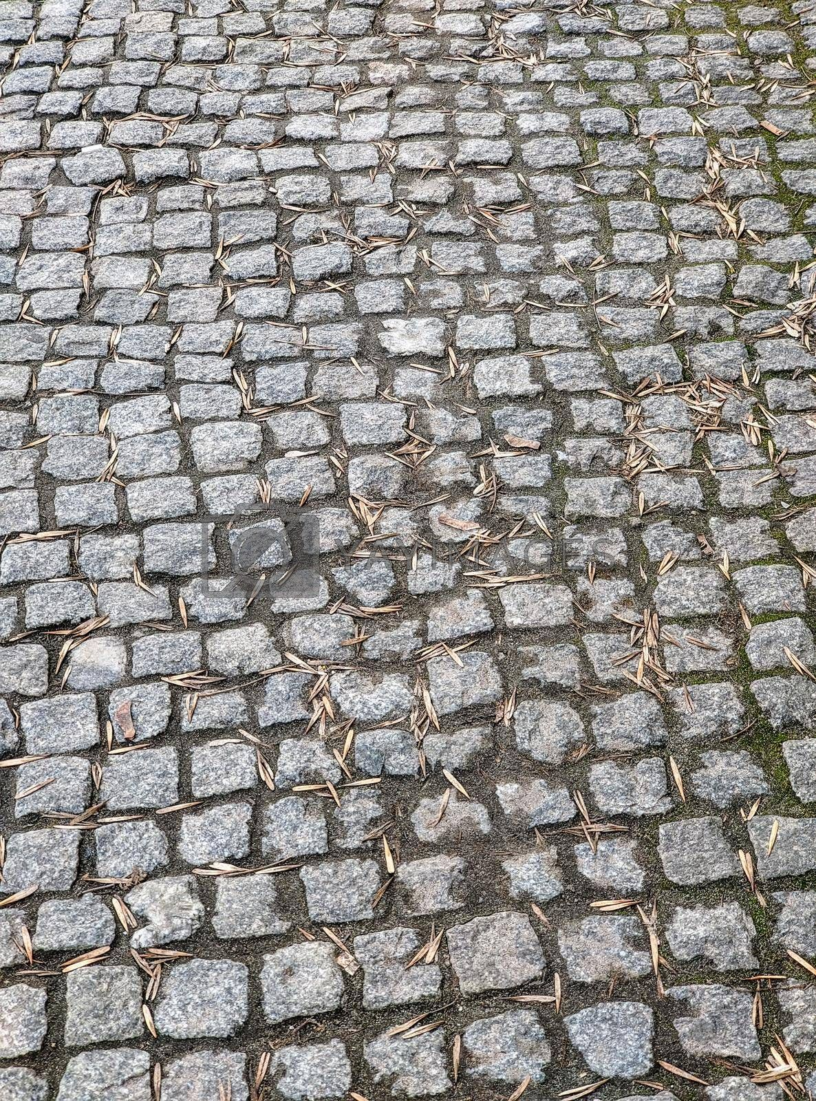 Royalty free image of Tiled pavement background. Circle paving. by Nickstock