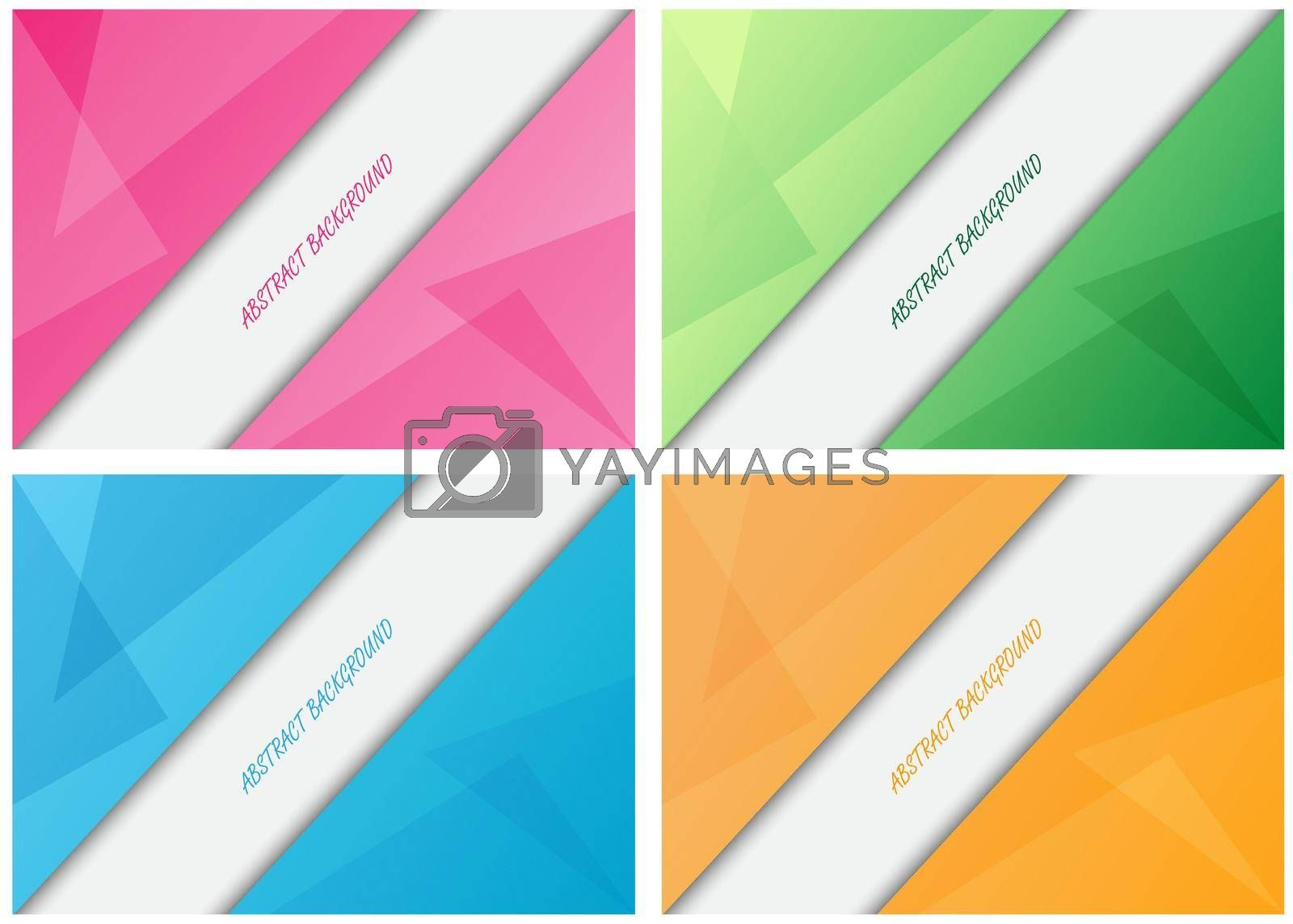 A set of colorful backgrounds for posters, banners, postcards and creative design. Stock vector illustration.