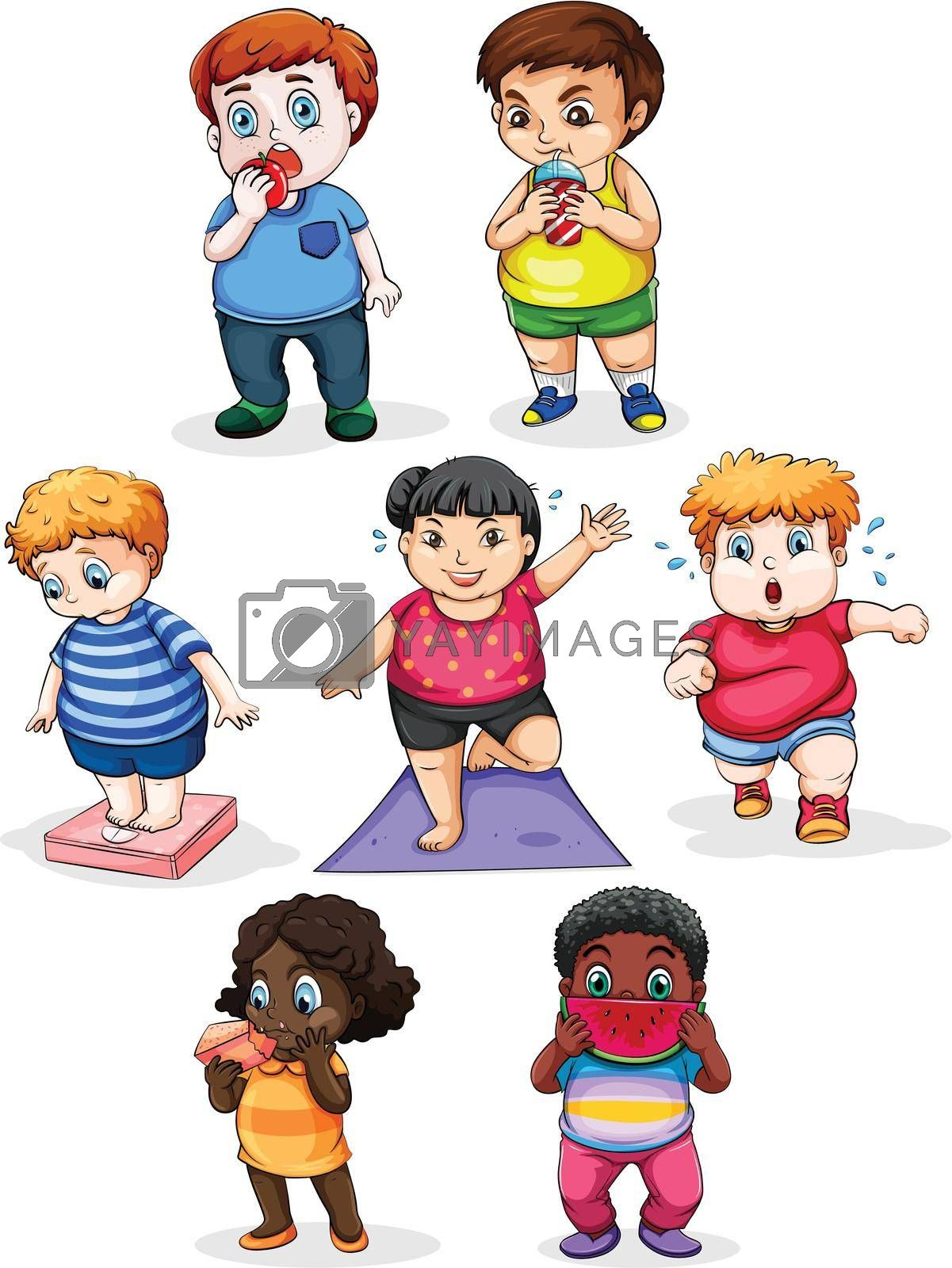 Royalty free image of Fat people by iimages