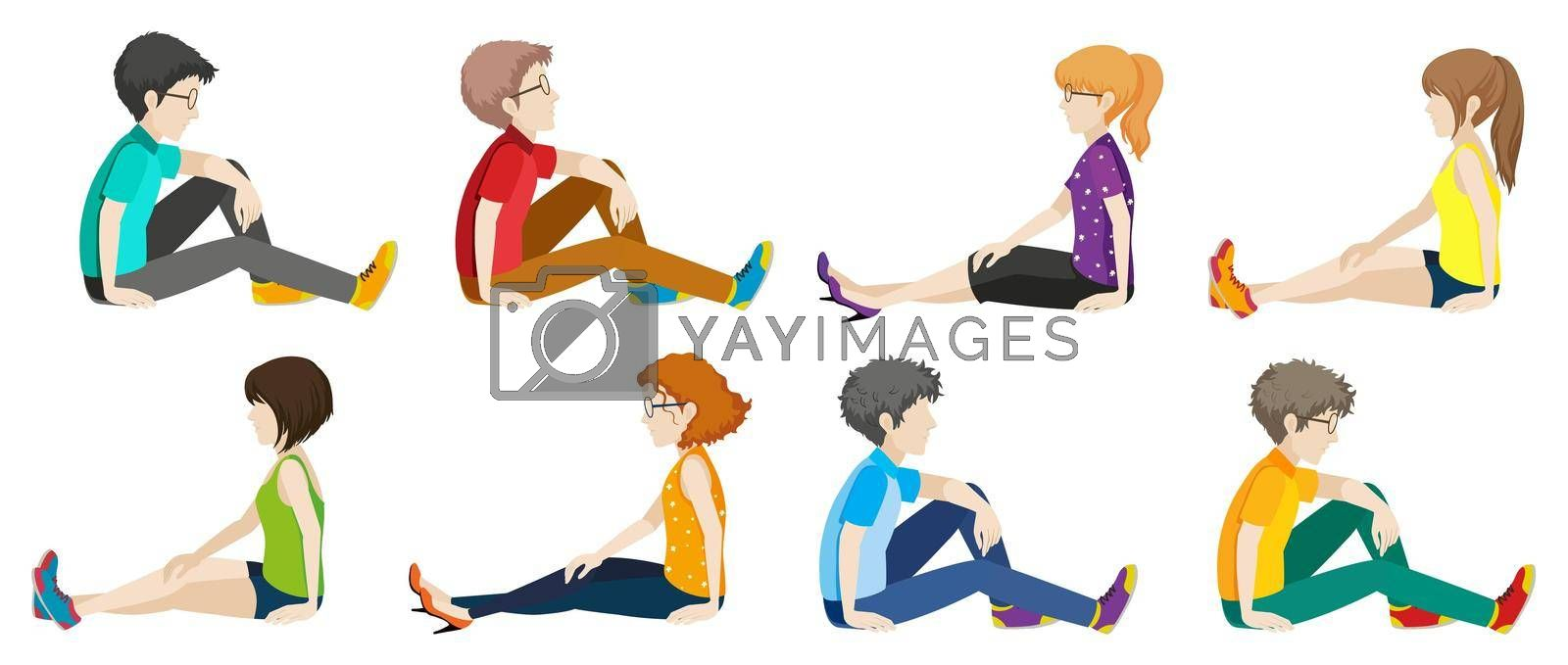 Royalty free image of People sitting by iimages