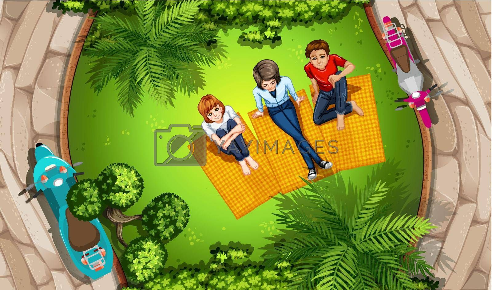 Royalty free image of People and park by iimages