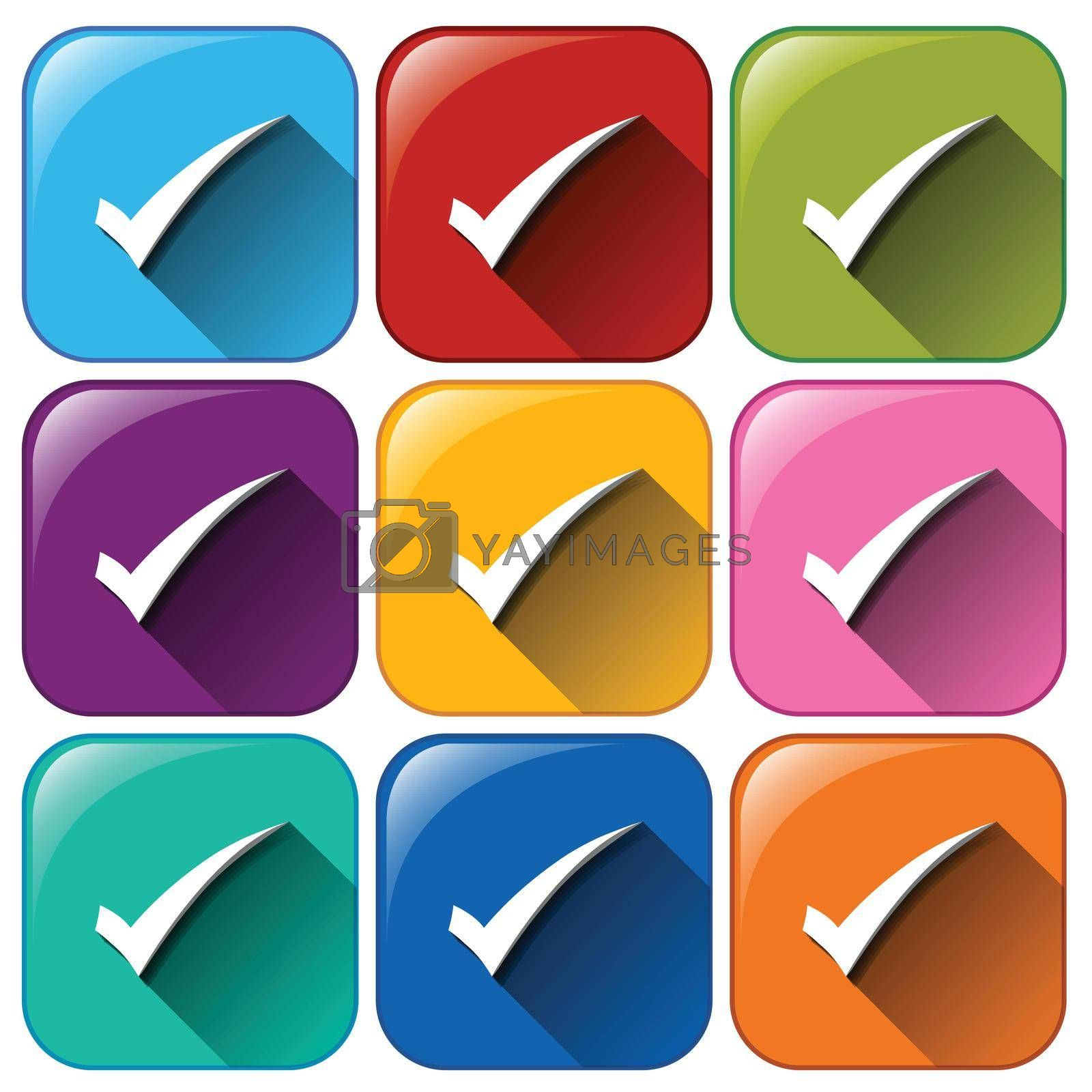 Royalty free image of Buttons with check marks by iimages
