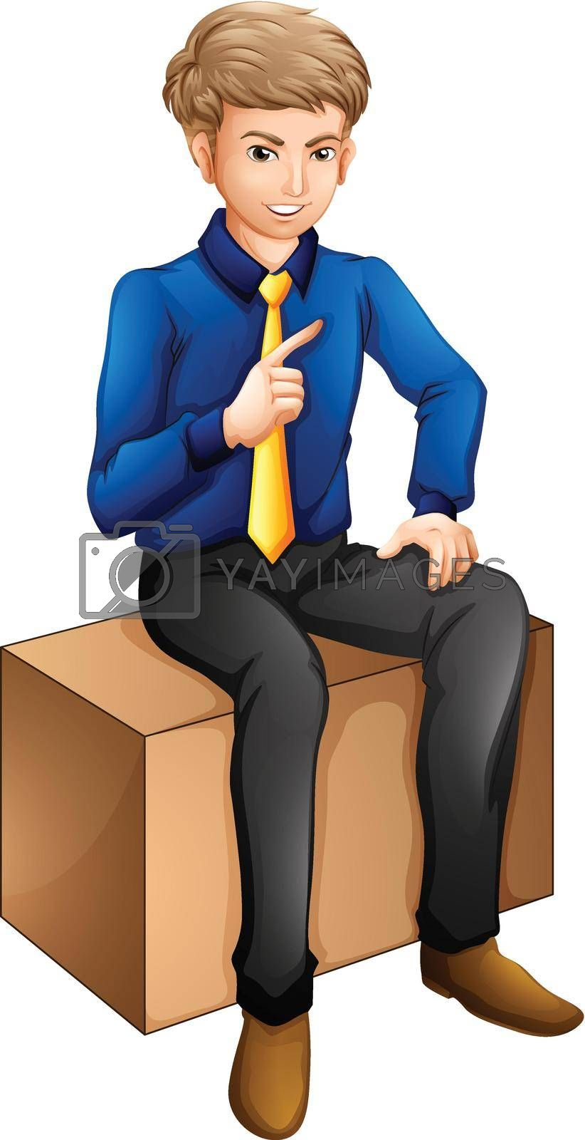 Royalty free image of A man sitting by iimages