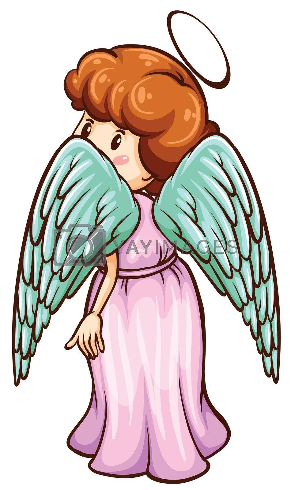 Royalty free image of A simple sketch of an angel by iimages