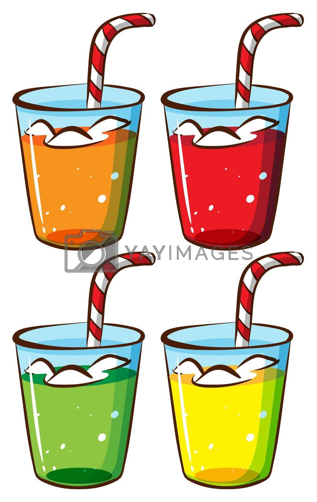 Royalty free image of Glasses with juice by iimages